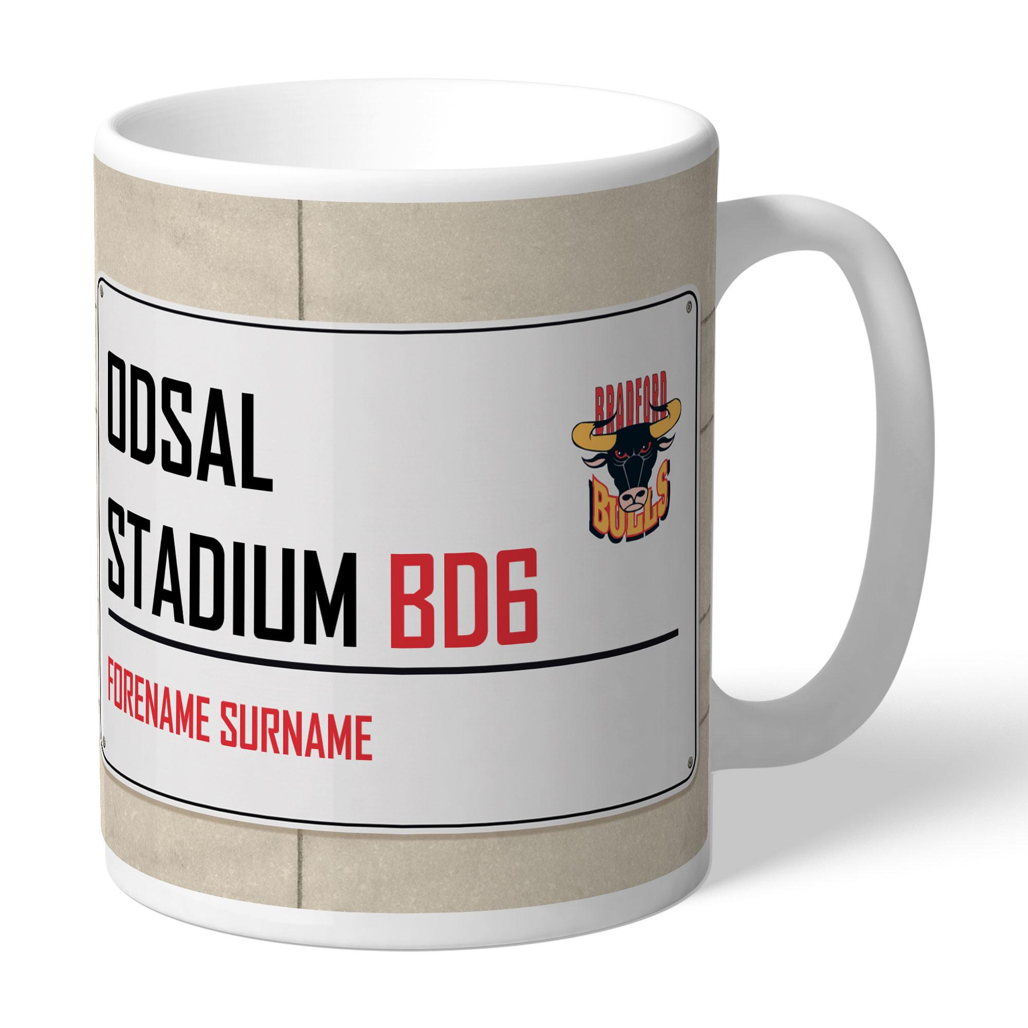 Bradford Bulls Street Sign Mug