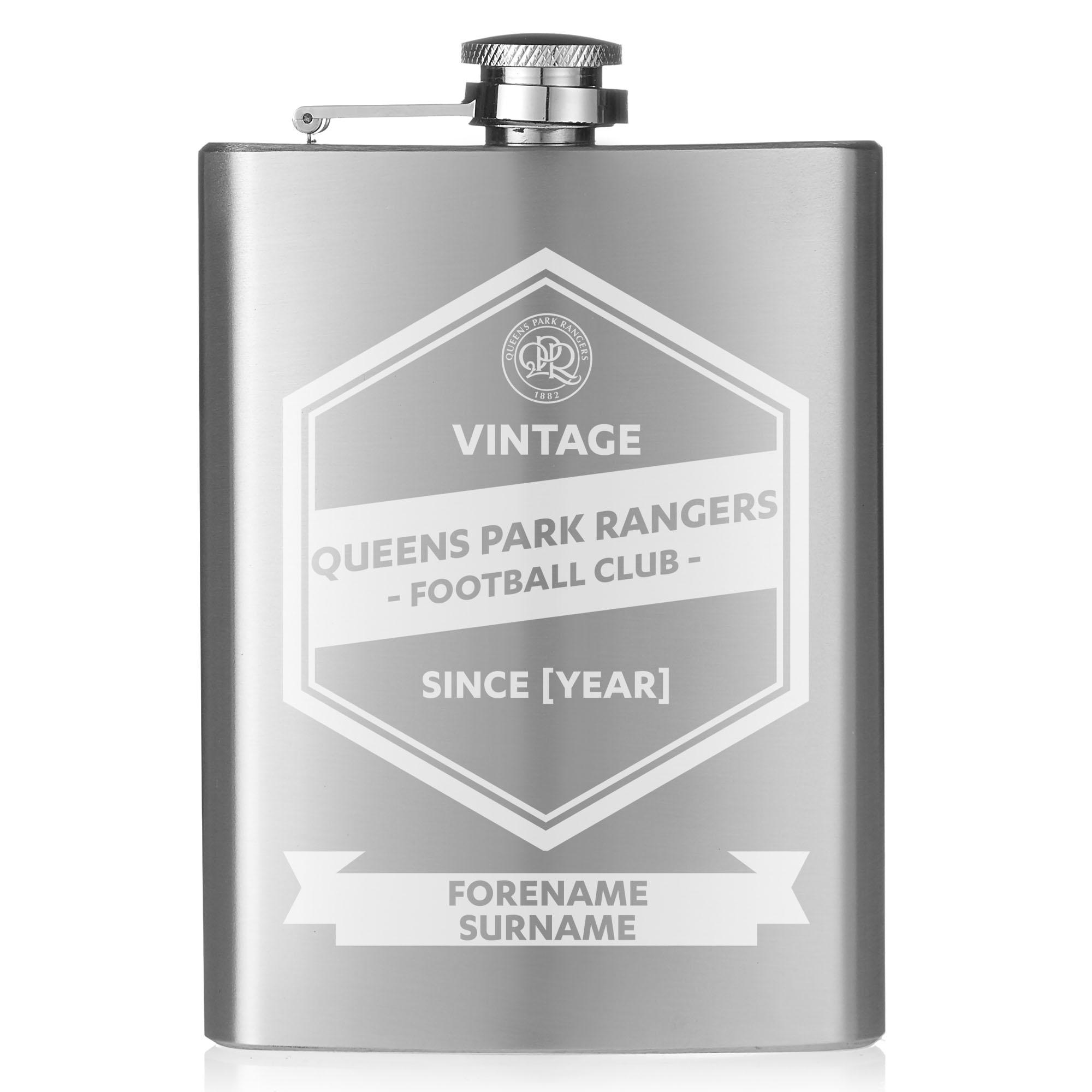 Queens Park Rangers FC Vintage Hip Flask
