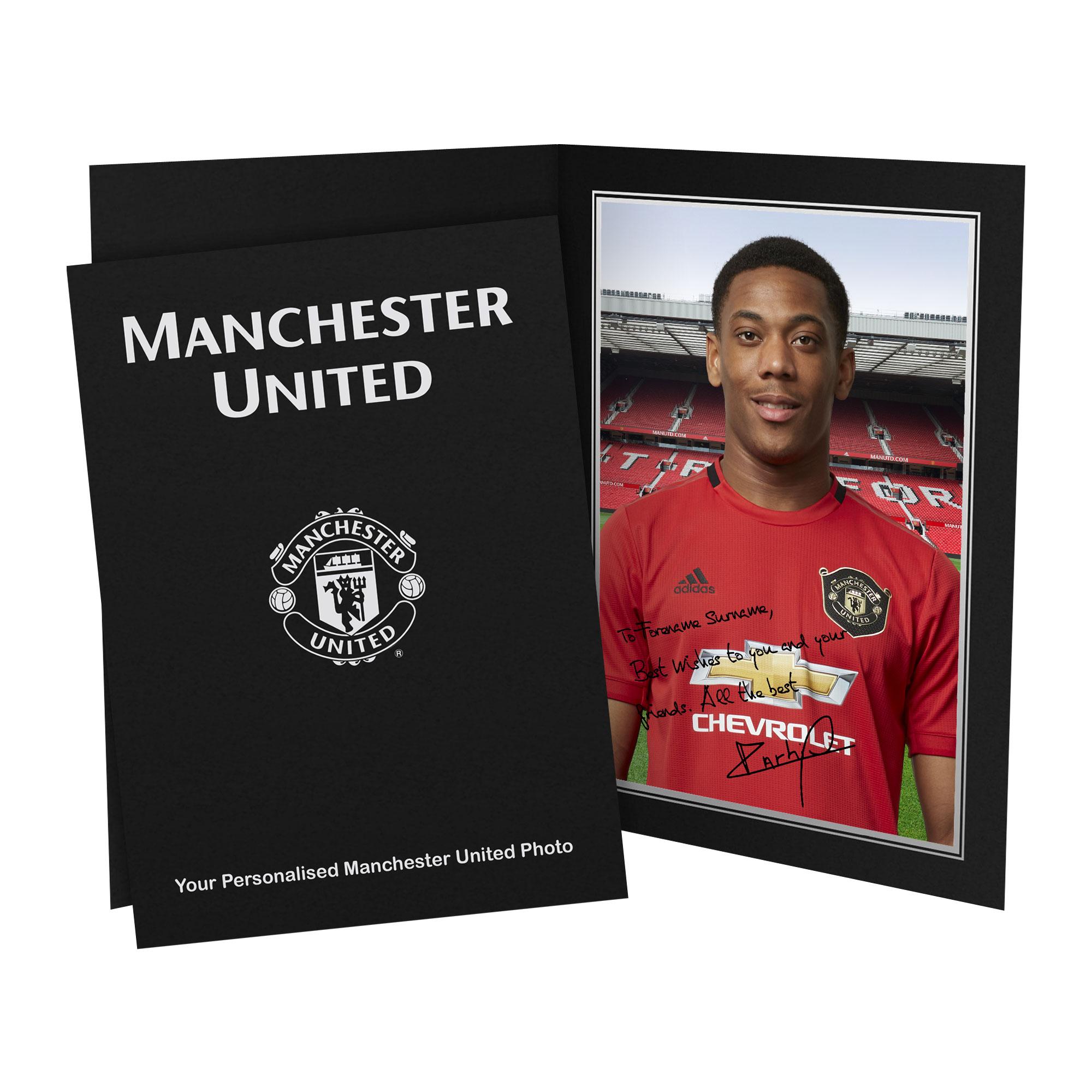 Manchester United FC Martial Autograph Photo Folder