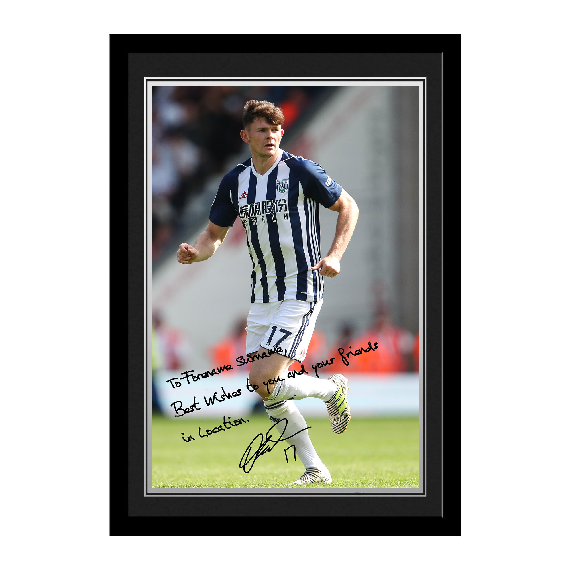 West Bromwich Albion FC Burke Autograph Photo Framed