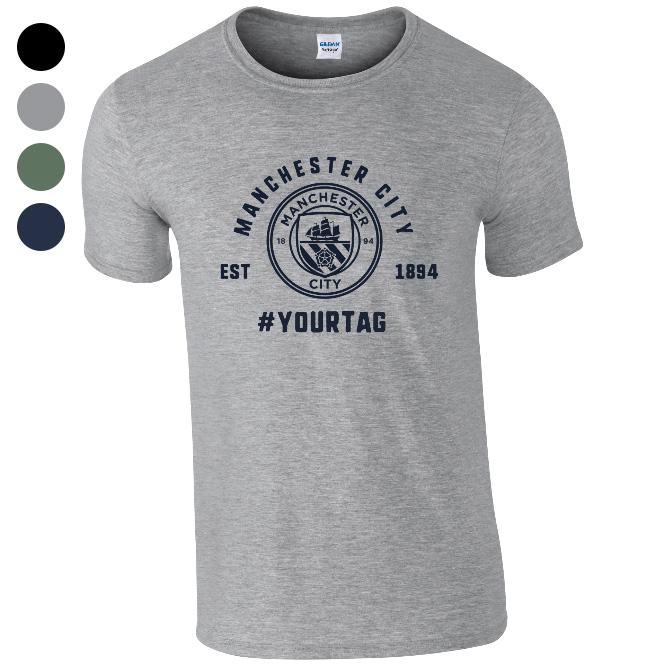 e824ea5aa Manchester City FC Vintage Hashtag T-Shirt