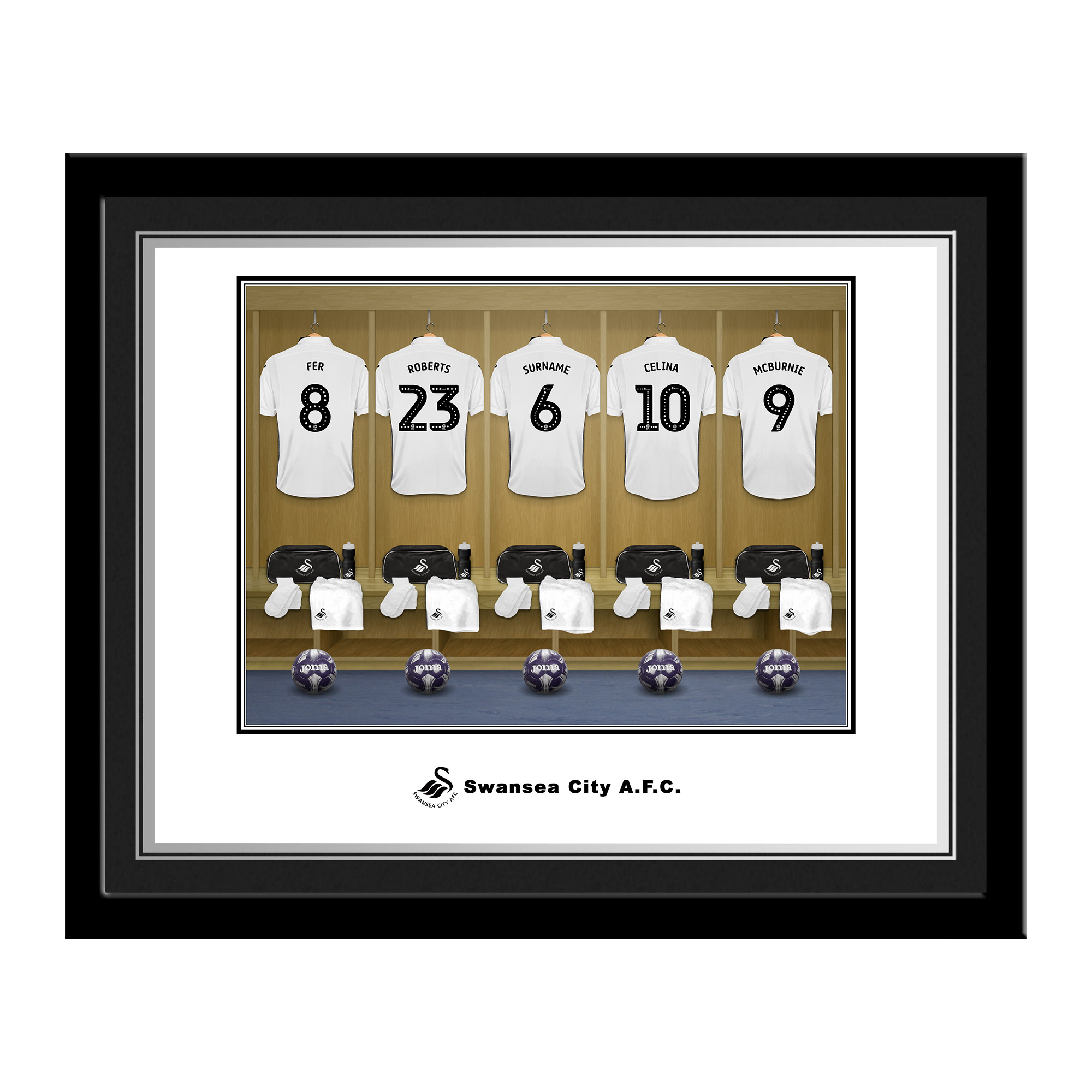 Swansea City AFC Dressing Room Photo Framed