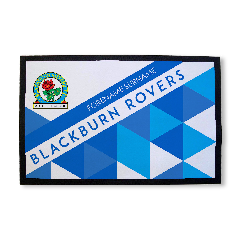 Blackburn Rovers FC Patterned Door Mat