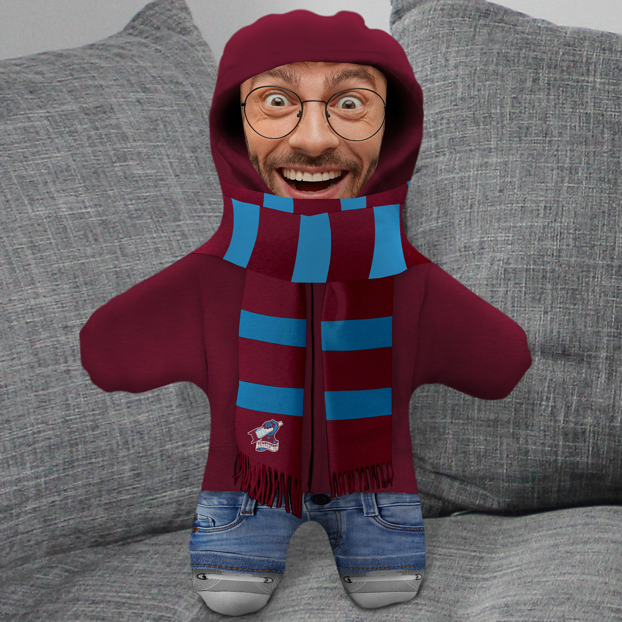 Scunthorpe United FC Hoodie Mini Me Photo Upload Cushion