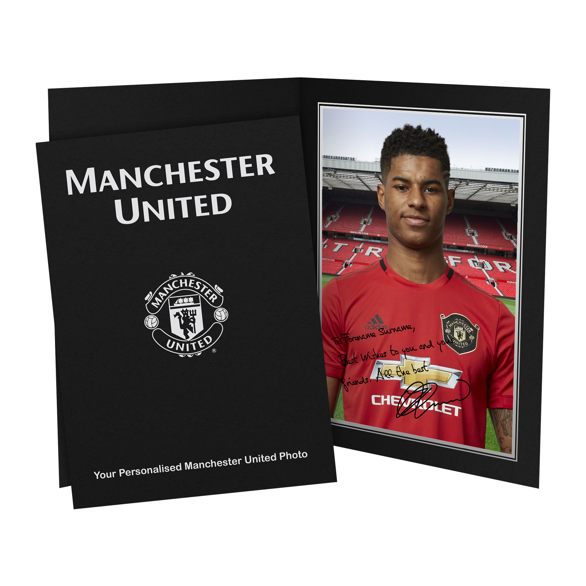 Manchester United FC Rashford Autograph Photo Folder