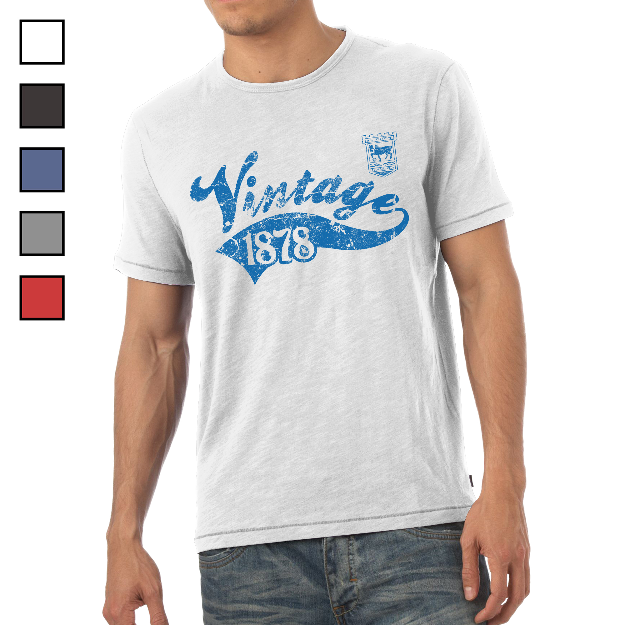 Ipswich Town FC Mens Vintage T-Shirt