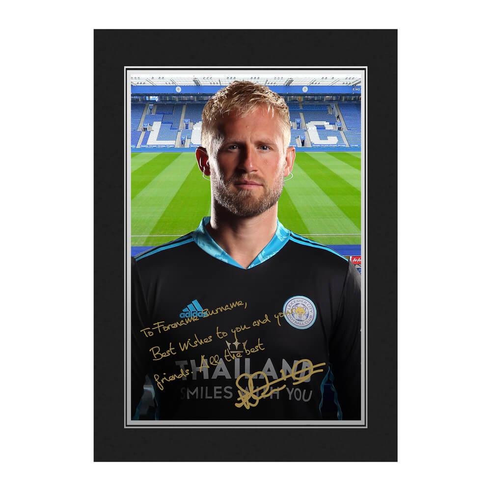 Leicester City FC Schmeichel Autograph Photo Folder