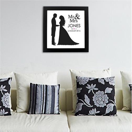 Framed 'Mr & Mrs' Print