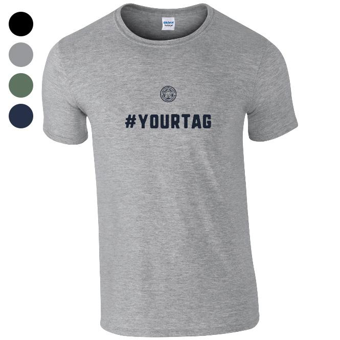 Leicester City FC Crest Hashtag T-Shirt