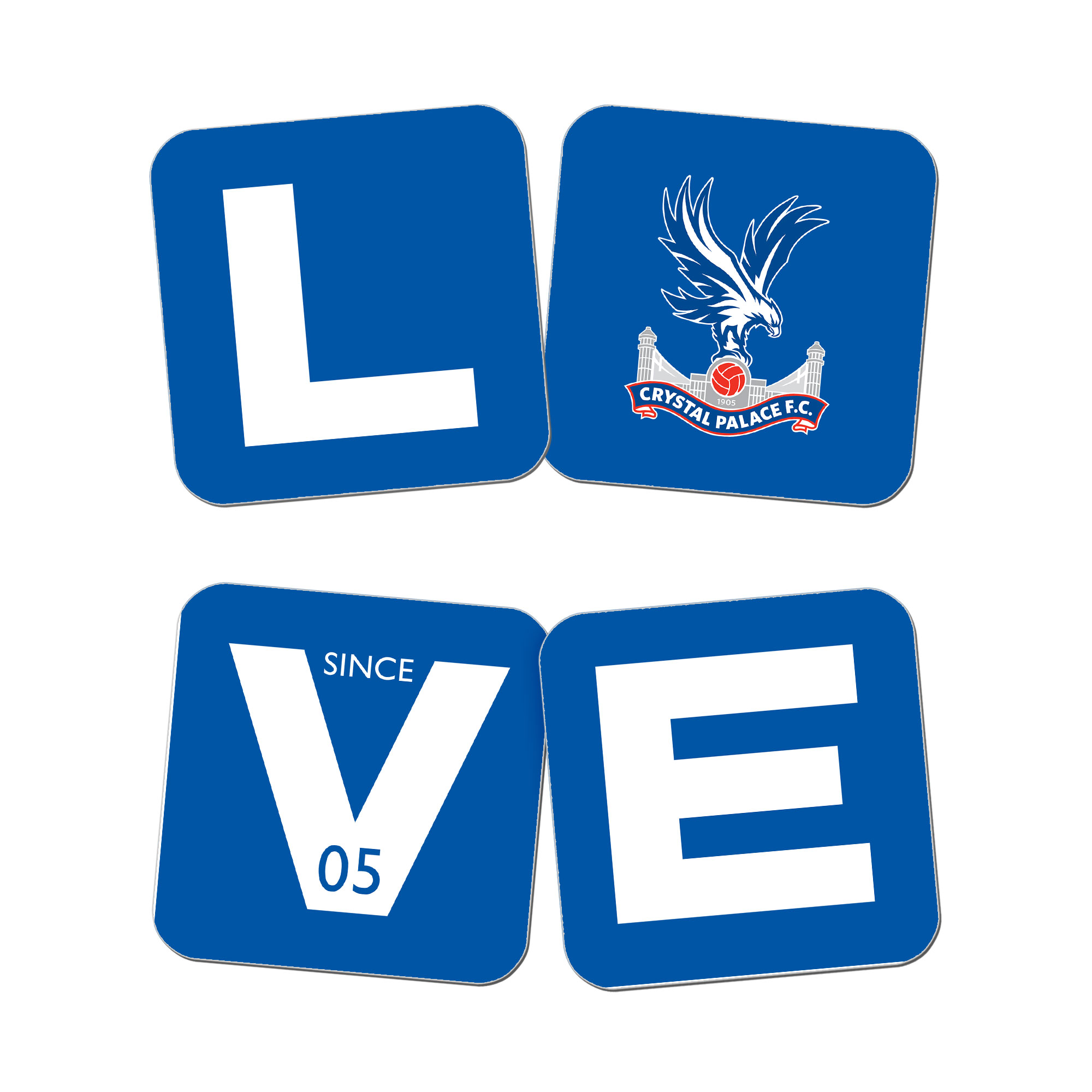 Crystal Palace FC Love Coasters (x4)