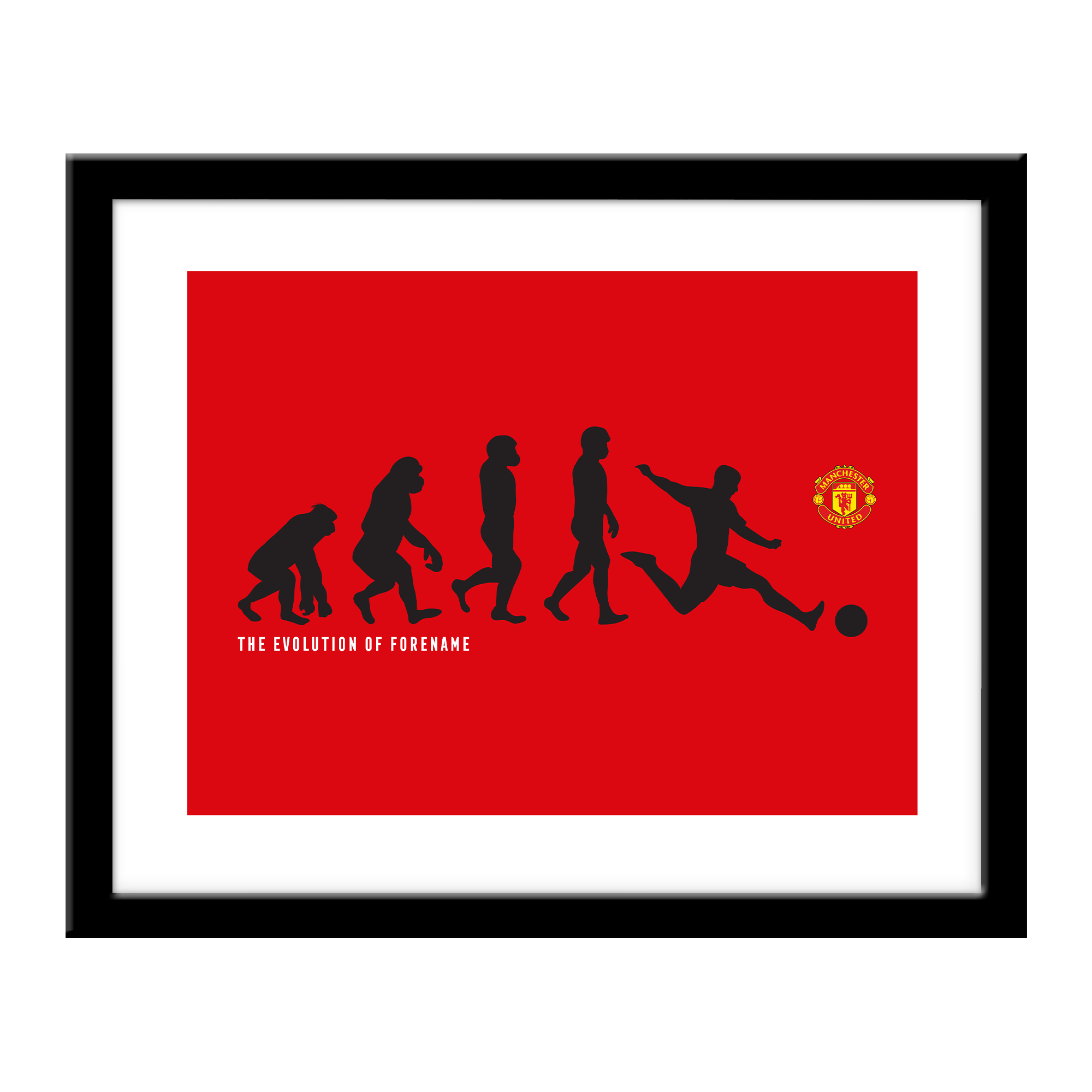 Manchester United FC Evolution Print