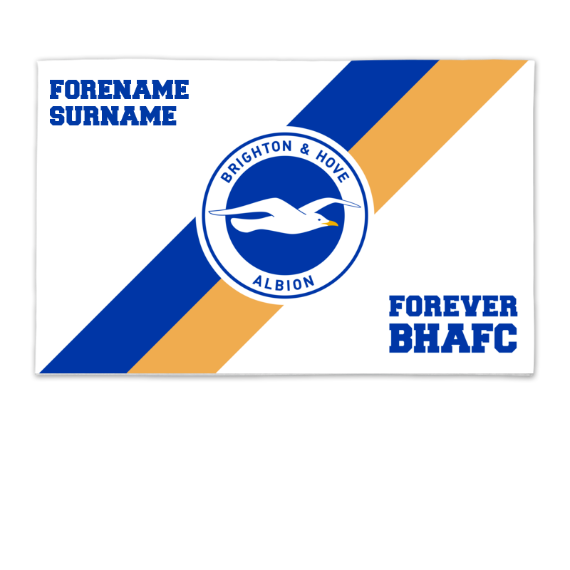 Brighton & Hove Albion FC Forever 8ft x 5ft Banner