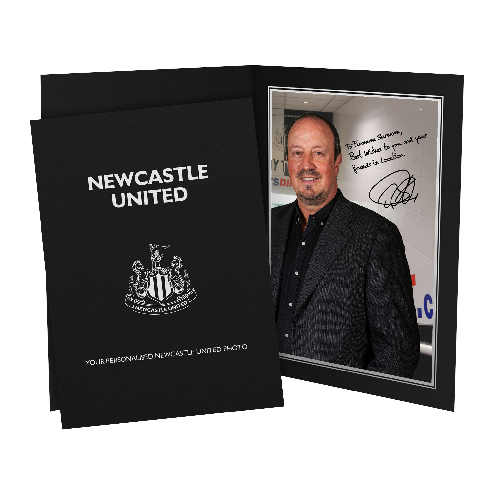Newcastle United FC Benitez Autograph Photo Folder