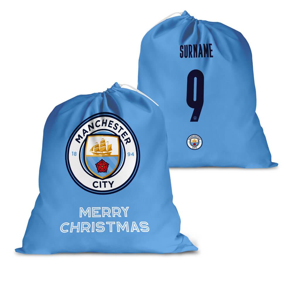 Manchester City FC Back of Shirt Santa Sack