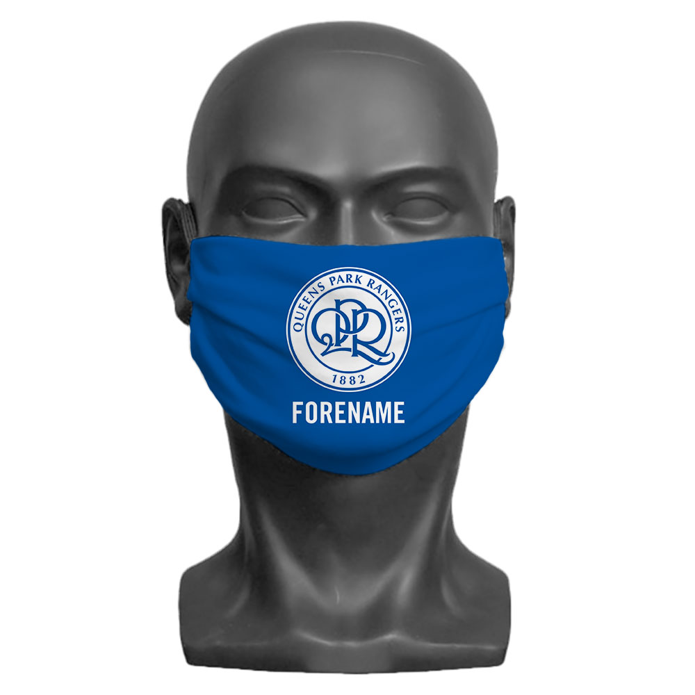 Queens Park Rangers FC Crest Adult Face Mask (Large)