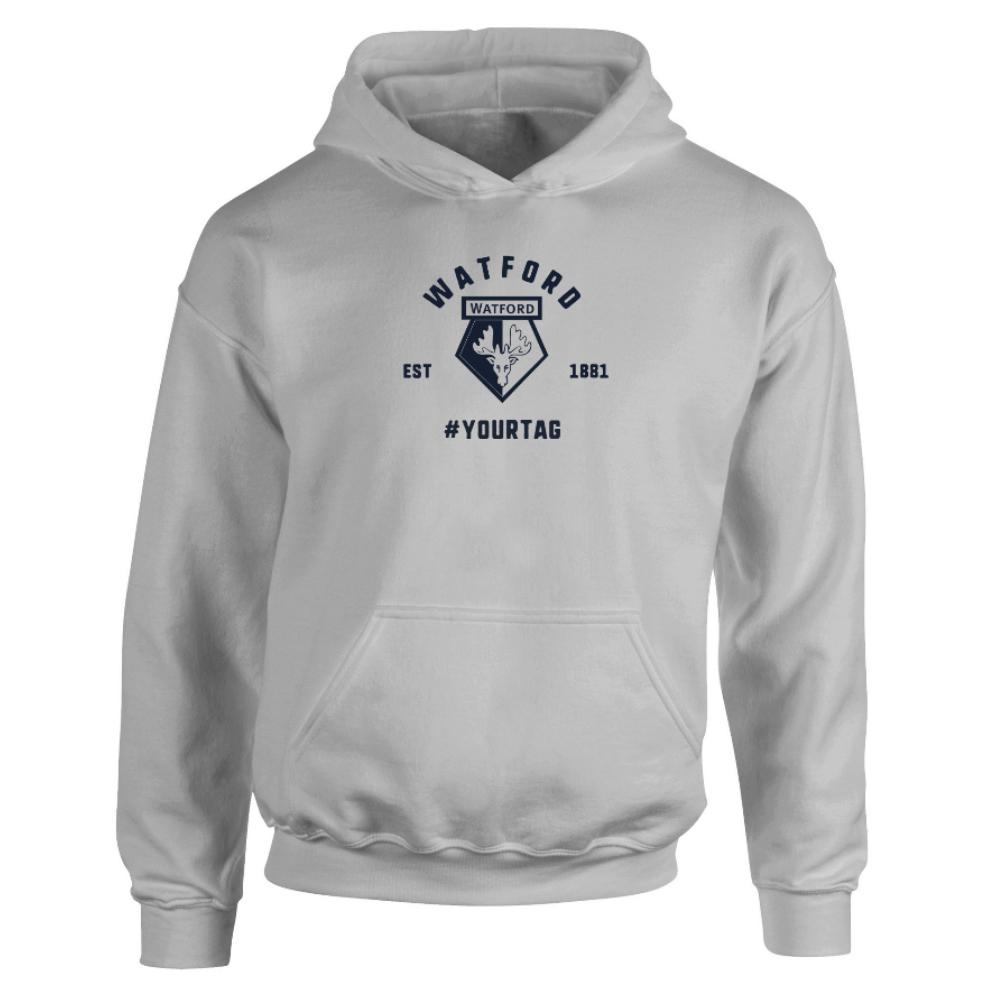 Watford FC Vintage Hashtag Hoodie
