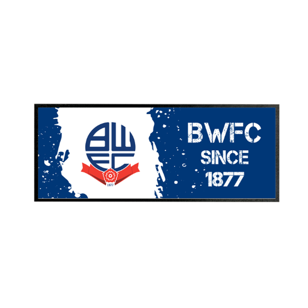 Bolton Wanderers FC Paint Splash Regular Bar Runner