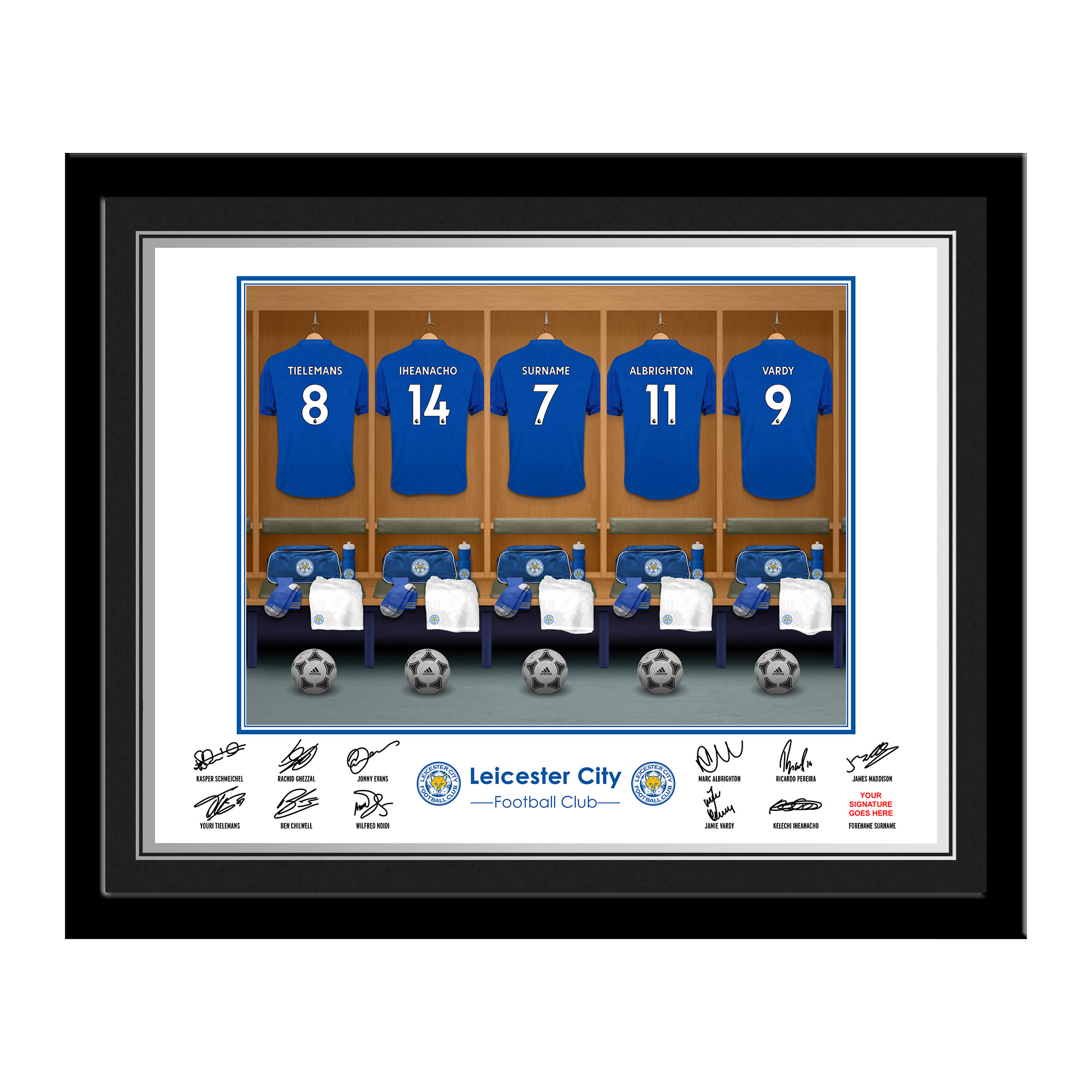 Leicester City FC Dressing Room Photo Framed