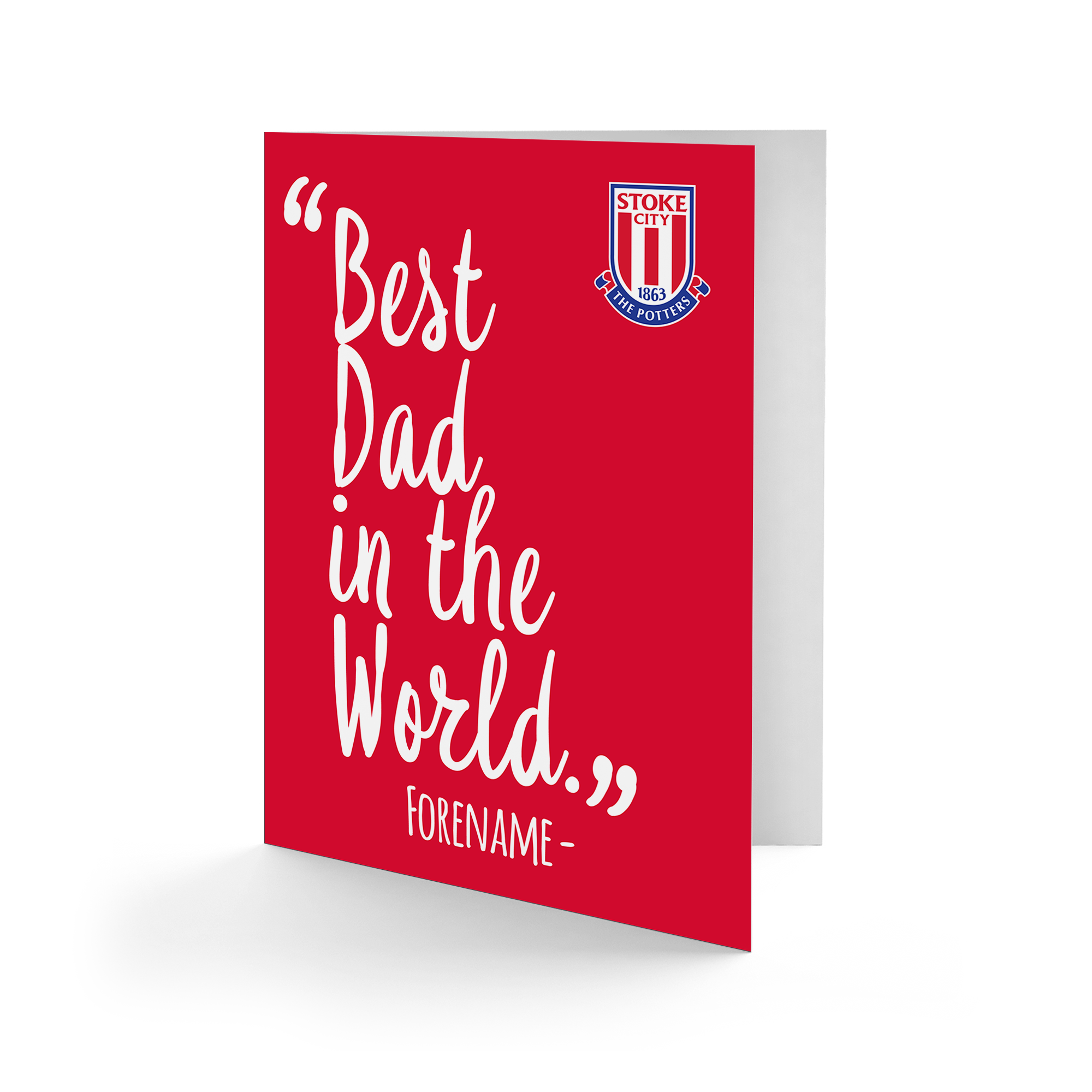 Stoke City FC Best Dad In The World Card