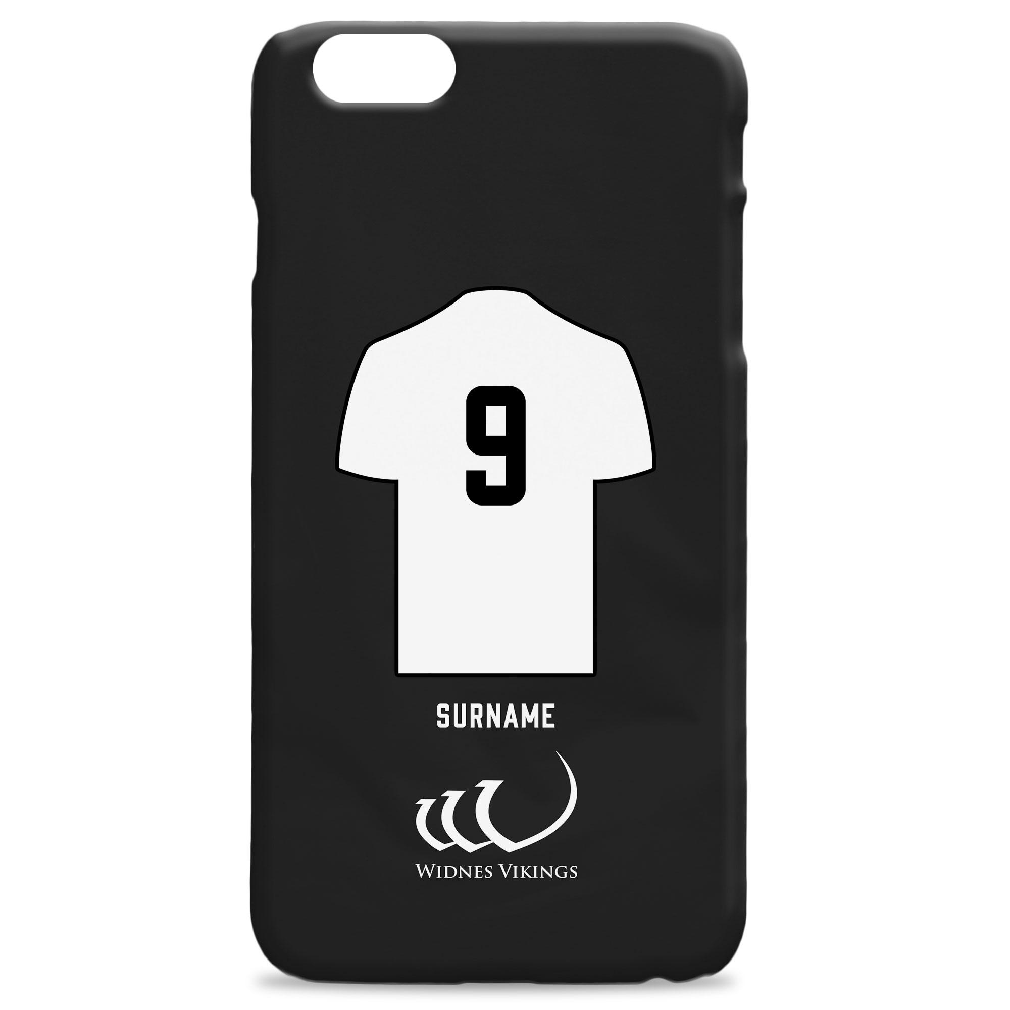 Widnes Vikings Shirt Hard Back Phone Case