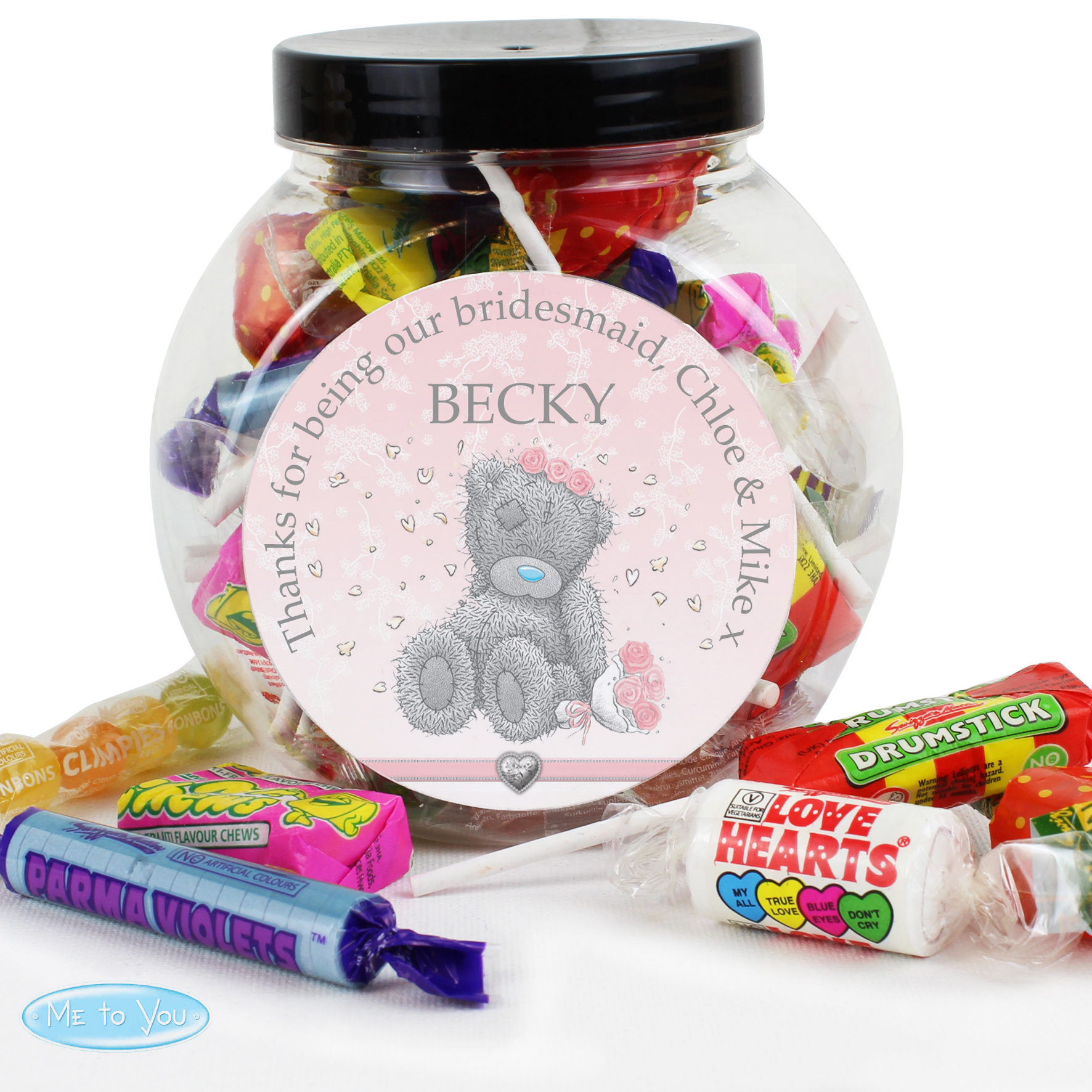 Personalised Me to You Wedding Sweet Jar - For Her