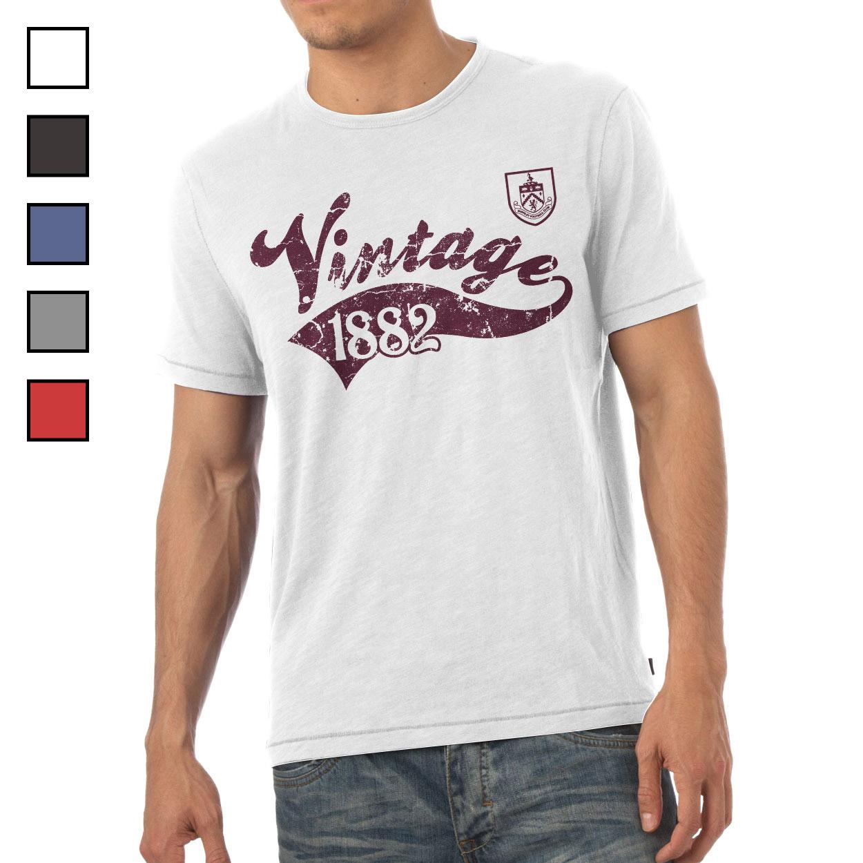 Burnley FC Mens Vintage T-Shirt