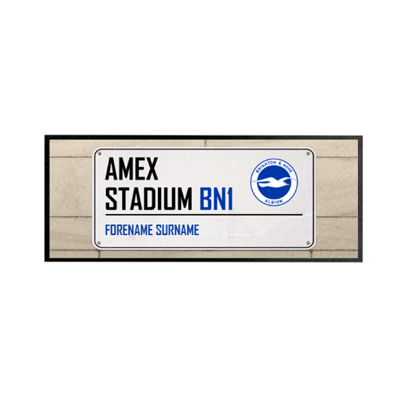 Brighton & Hove Albion FC Street Sign Regular Bar Runner