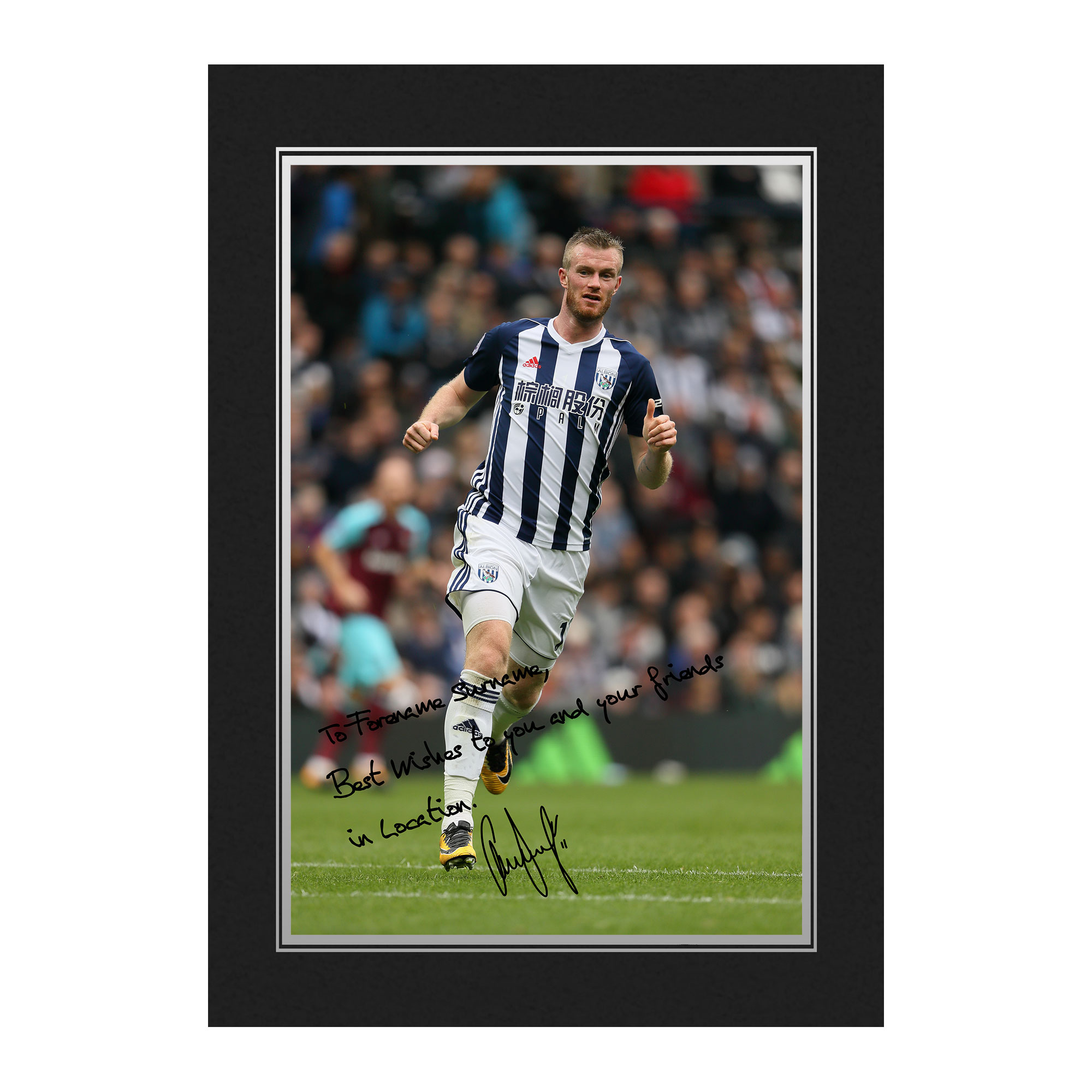 West Bromwich Albion FC Brunt Autograph Photo Folder
