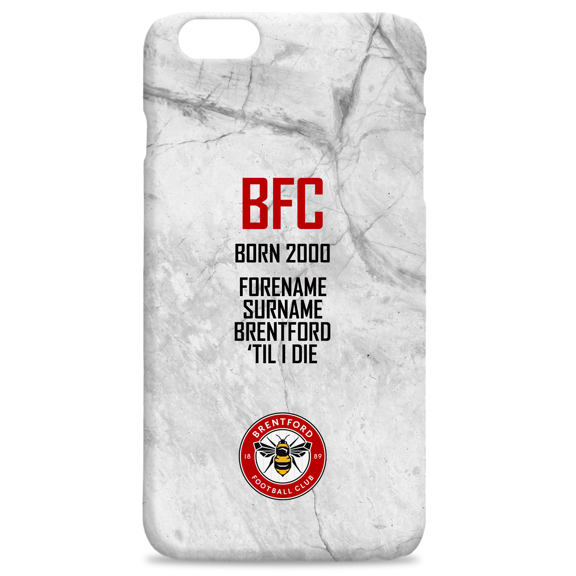 Brentford FC 'Til I Die Hard Back Phone Case