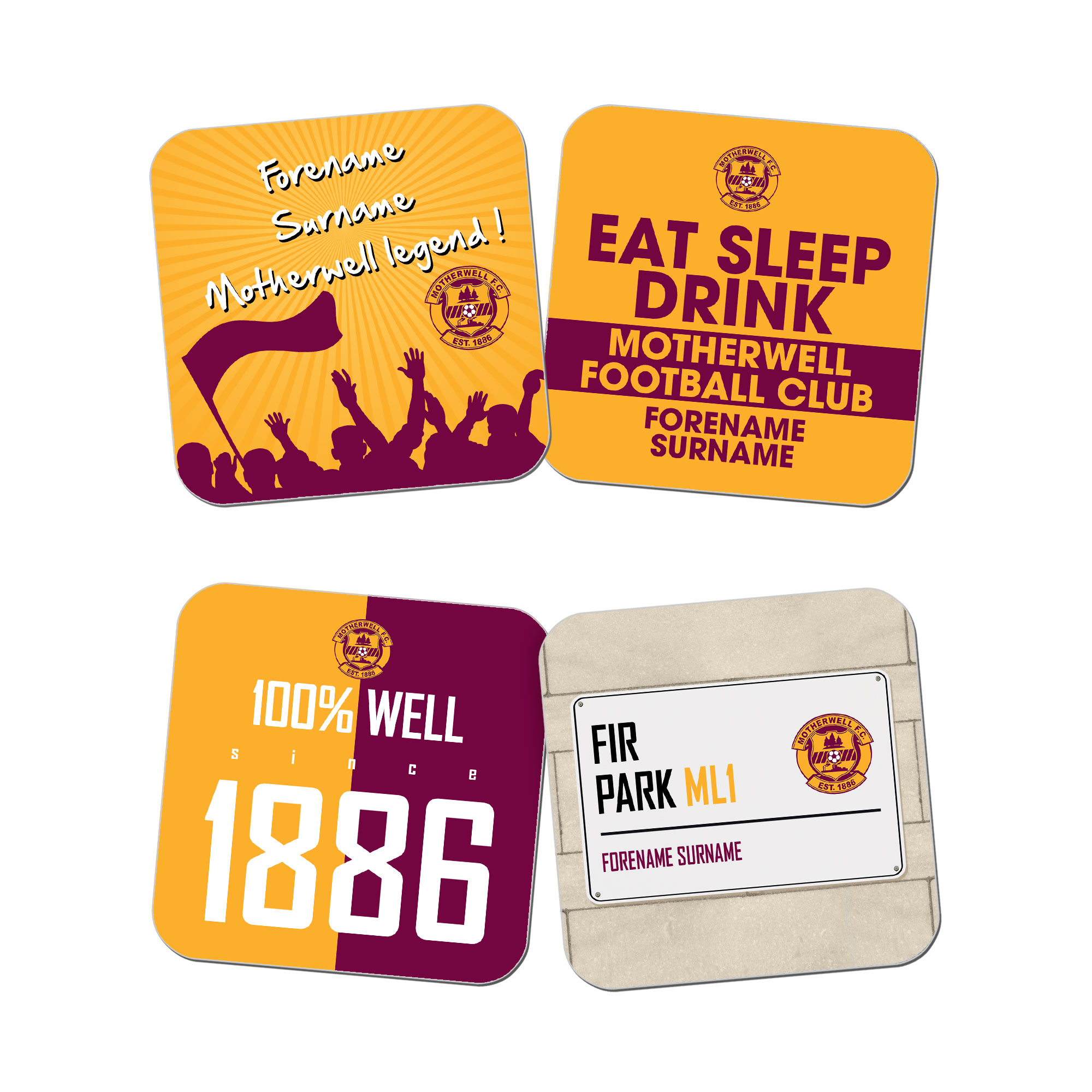 Motherwell FC Coasters