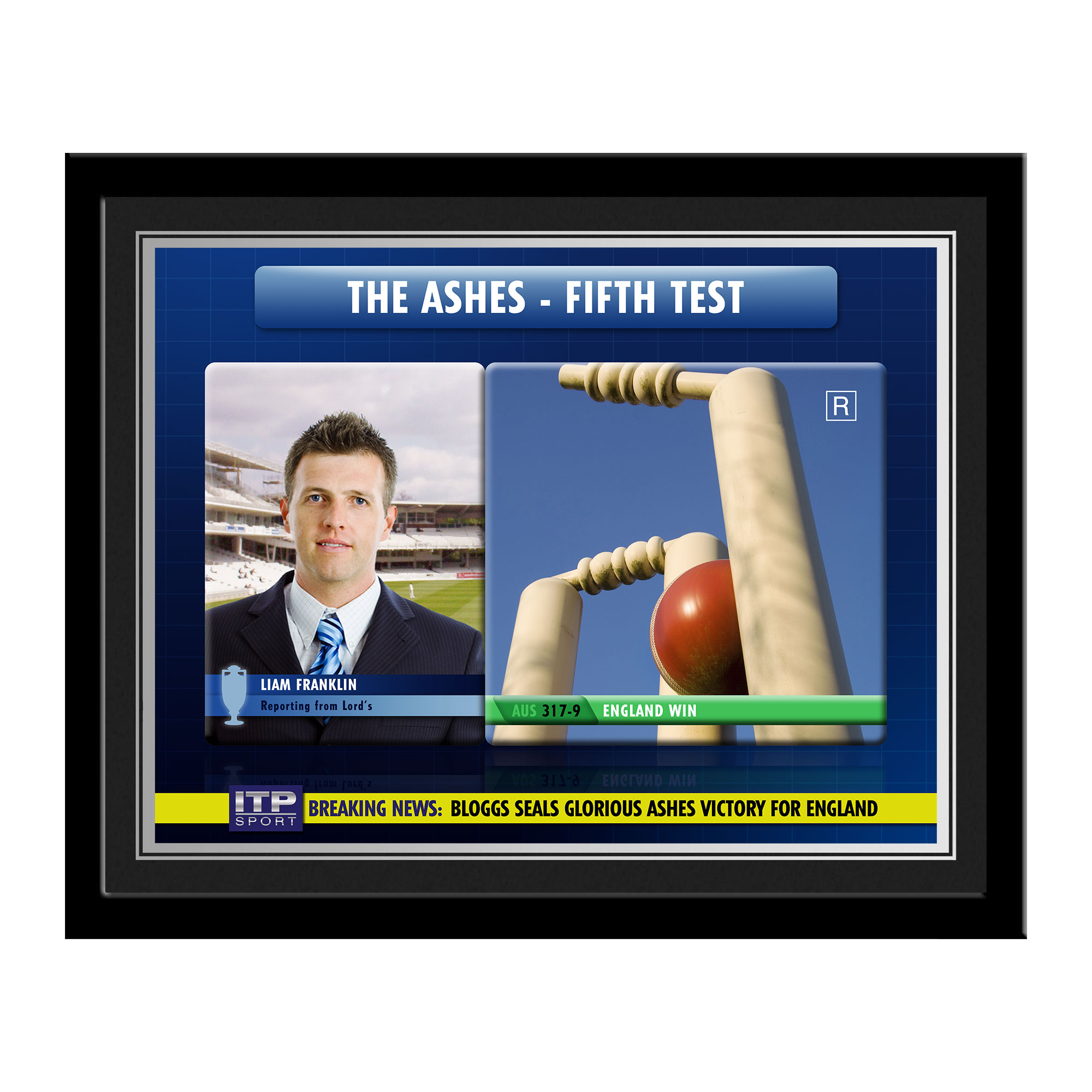Personalised Cricket Photo Frame