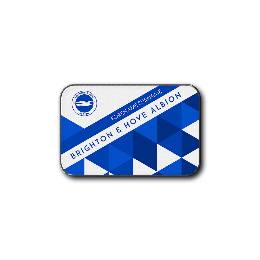Brighton & Hove Albion FC Patterned Rear Car Mat