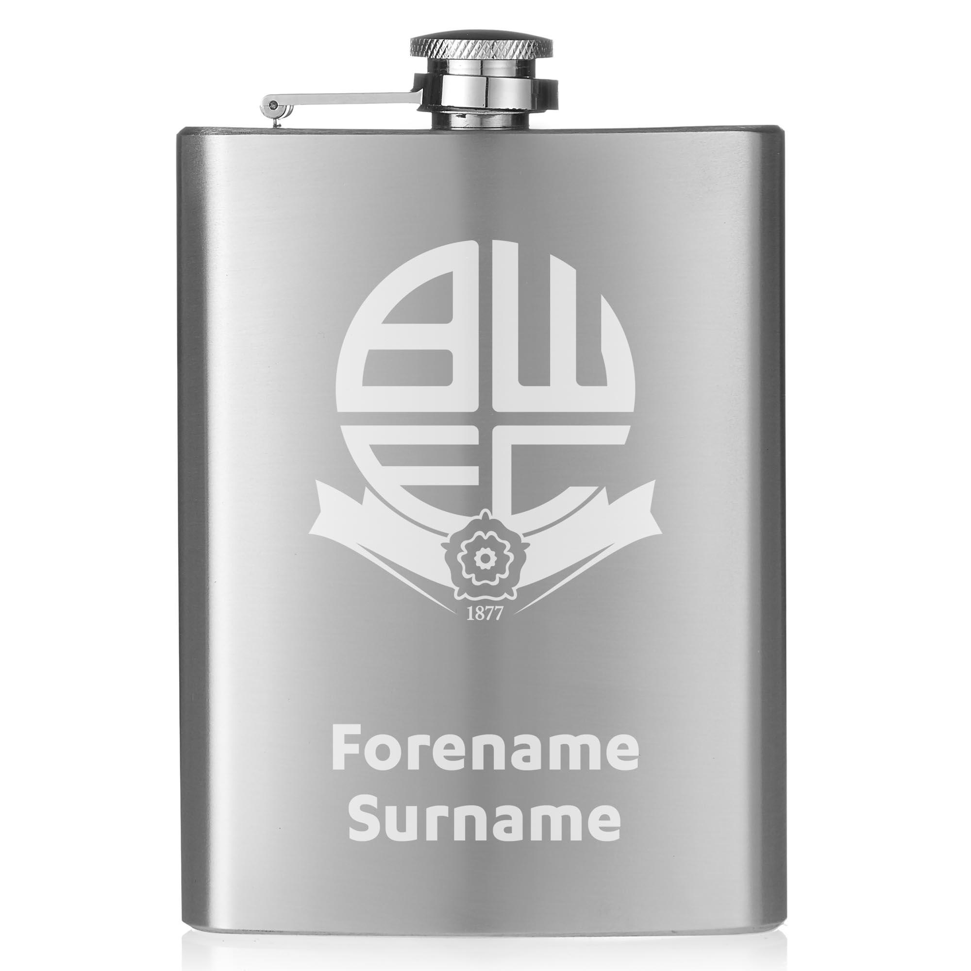 Bolton Wanderers FC Crest Hip Flask