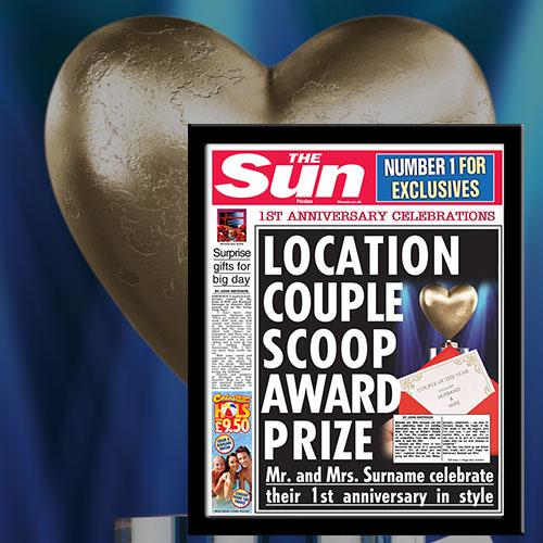The Sun 1st Anniversary News Single Page Print