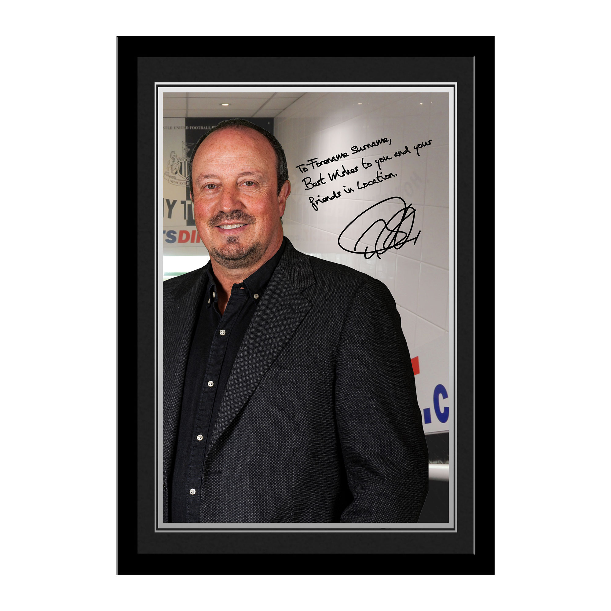 Newcastle United FC Benitez Autograph Photo Framed
