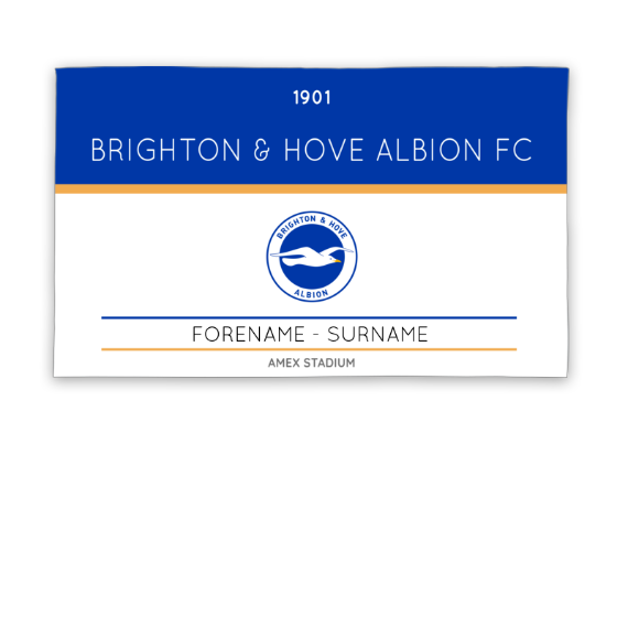 Brighton & Hove Albion FC Minimal Ticket 5ft x 3ft Banner