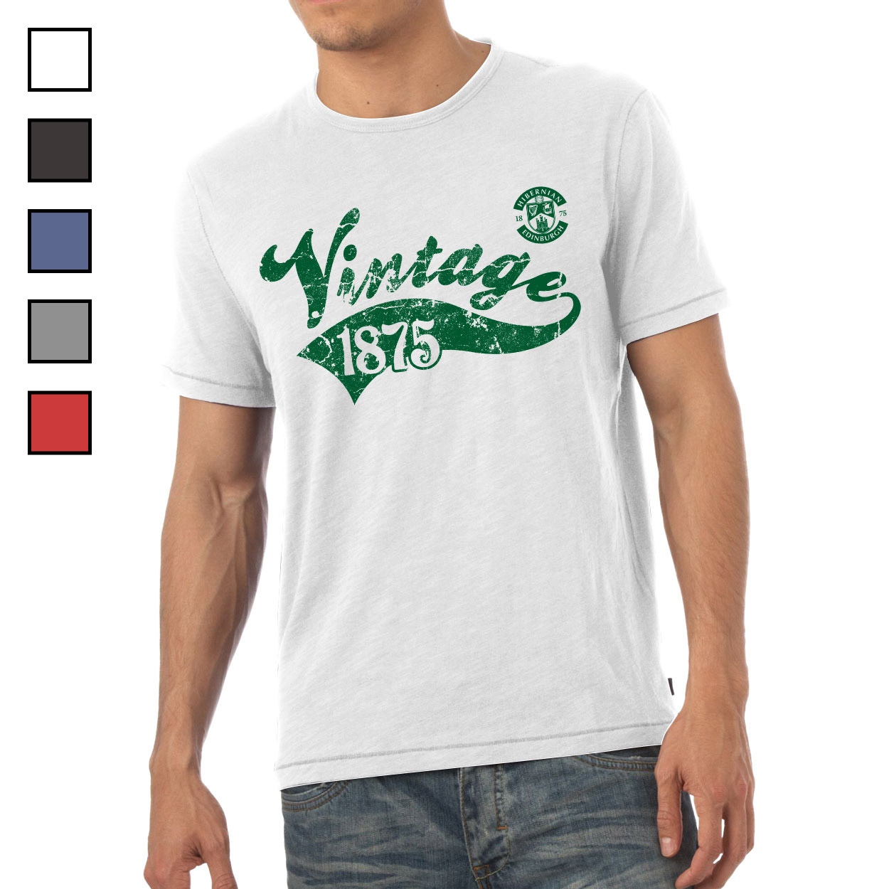 Hibernian FC Mens Vintage T-Shirt