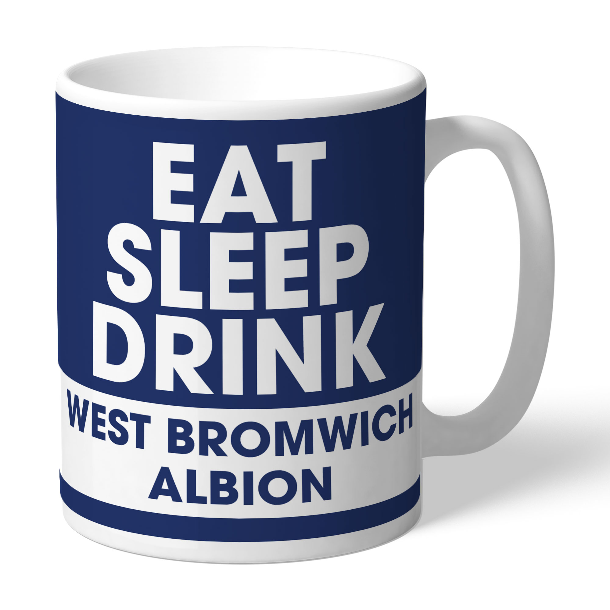 West Bromwich Albion FC Eat Sleep Drink Mug