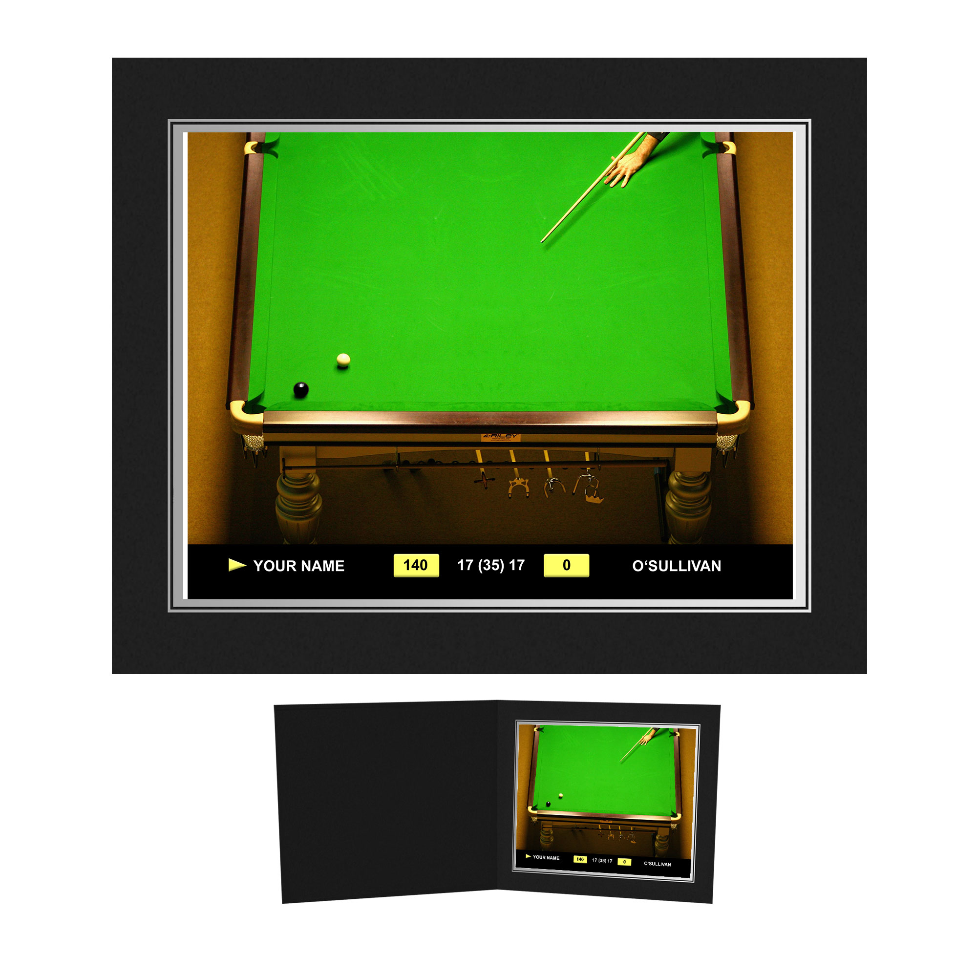 Personalised Snooker Photo Folder