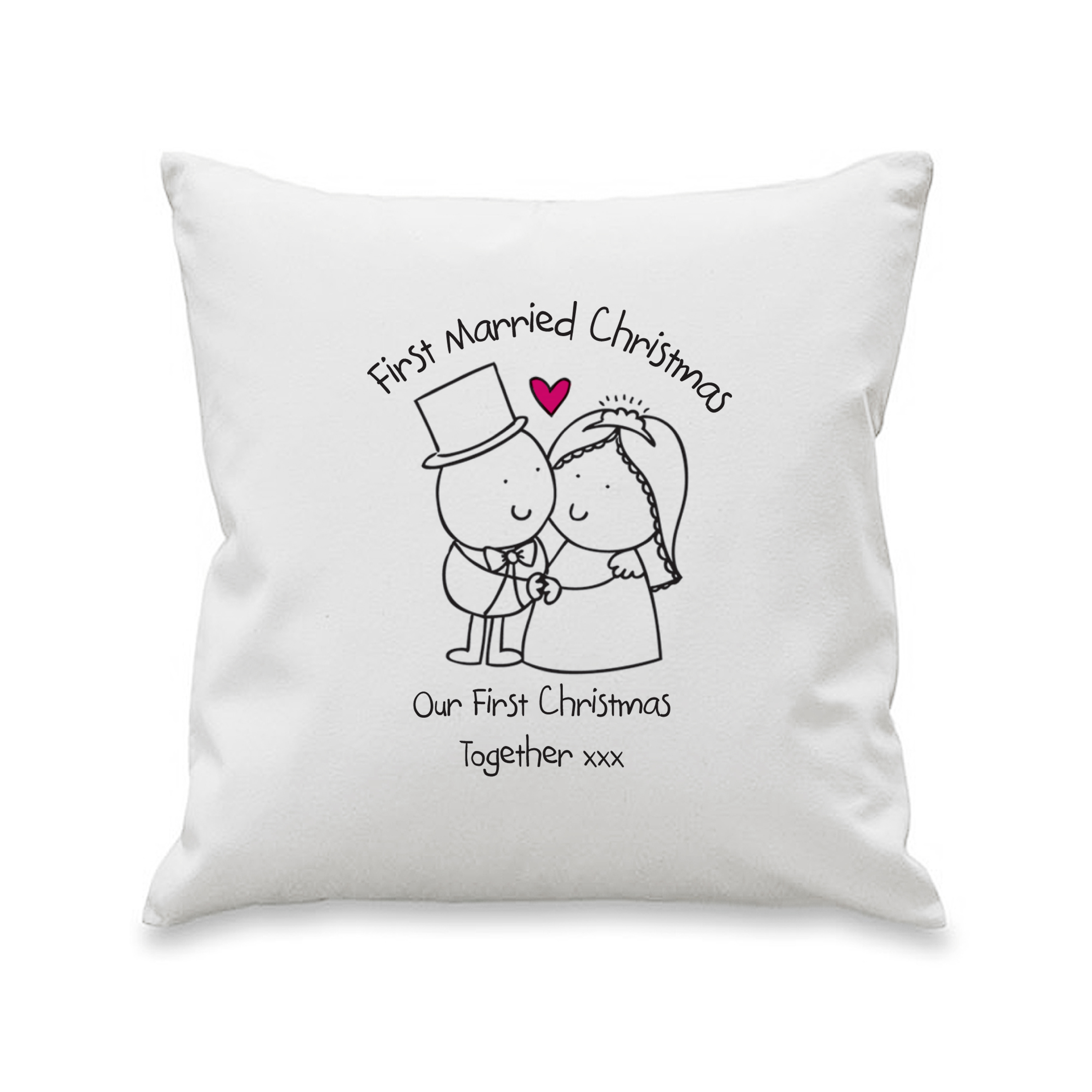 Chilli and Bubbles Married Christmas Cushion Cover
