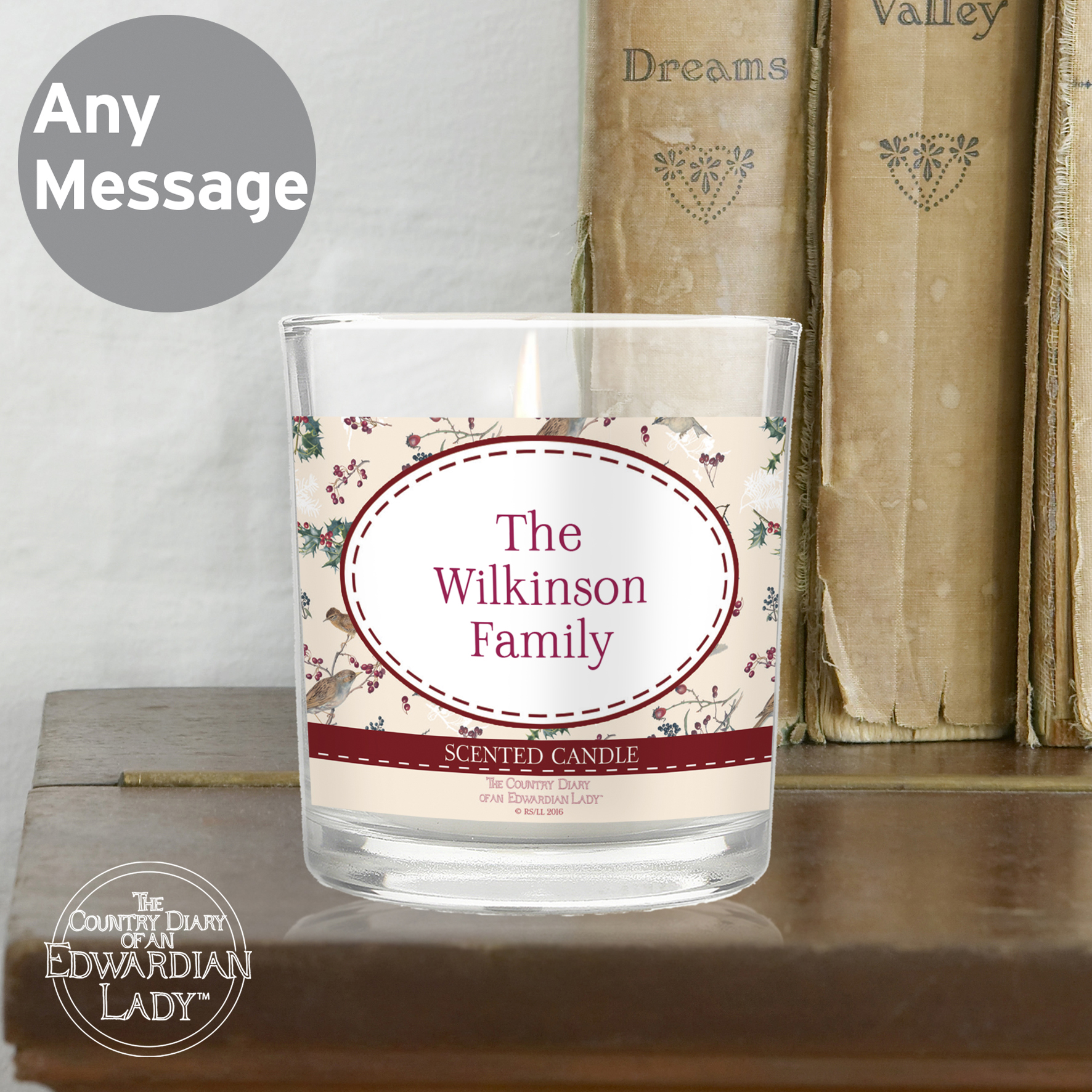 Personalised Country Diary Midwinter Jar Candle