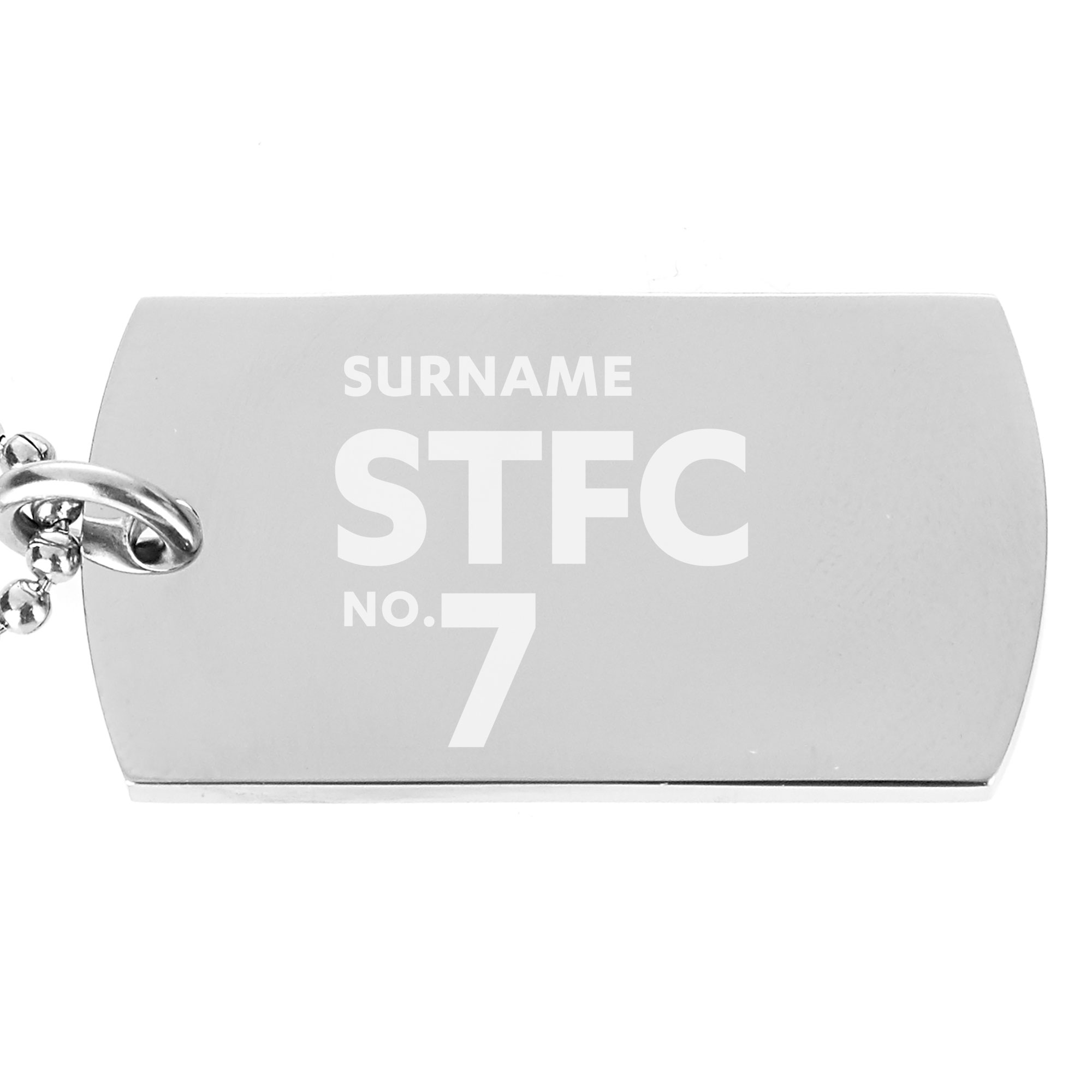 Swindon Town Number Dog Tag Pendant
