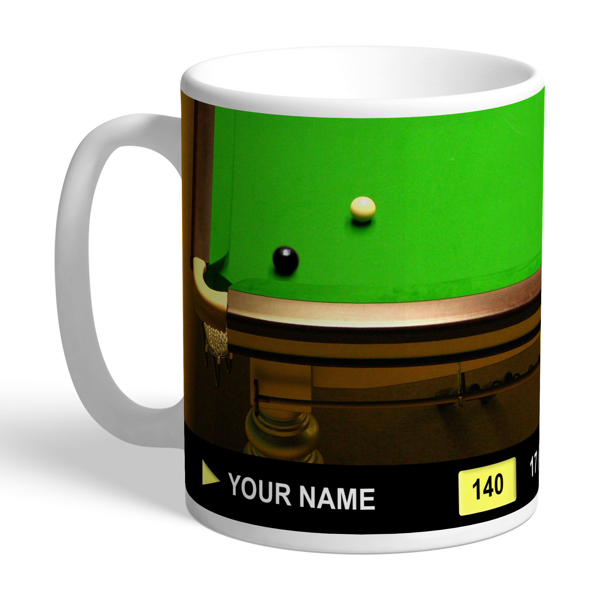 Personalised Snooker Mug