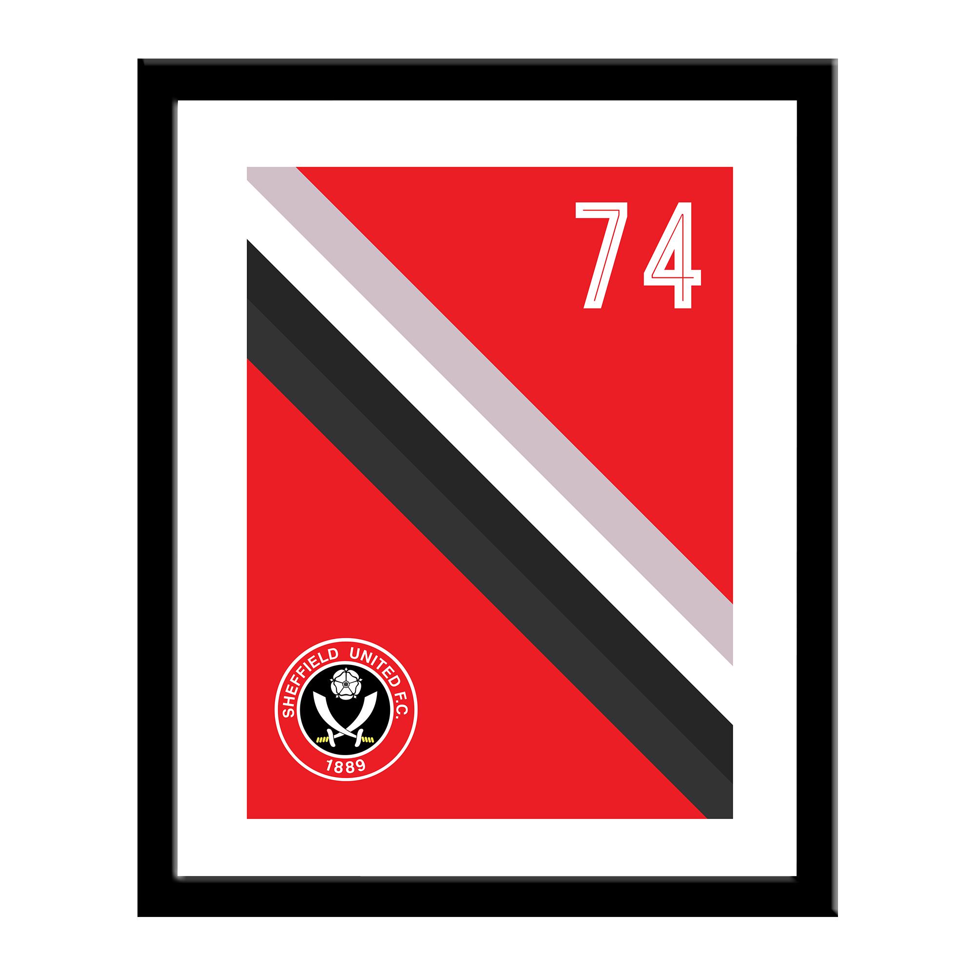 CREST Sheffield United F.C Personalised Small Plain Straight Sided Tankard