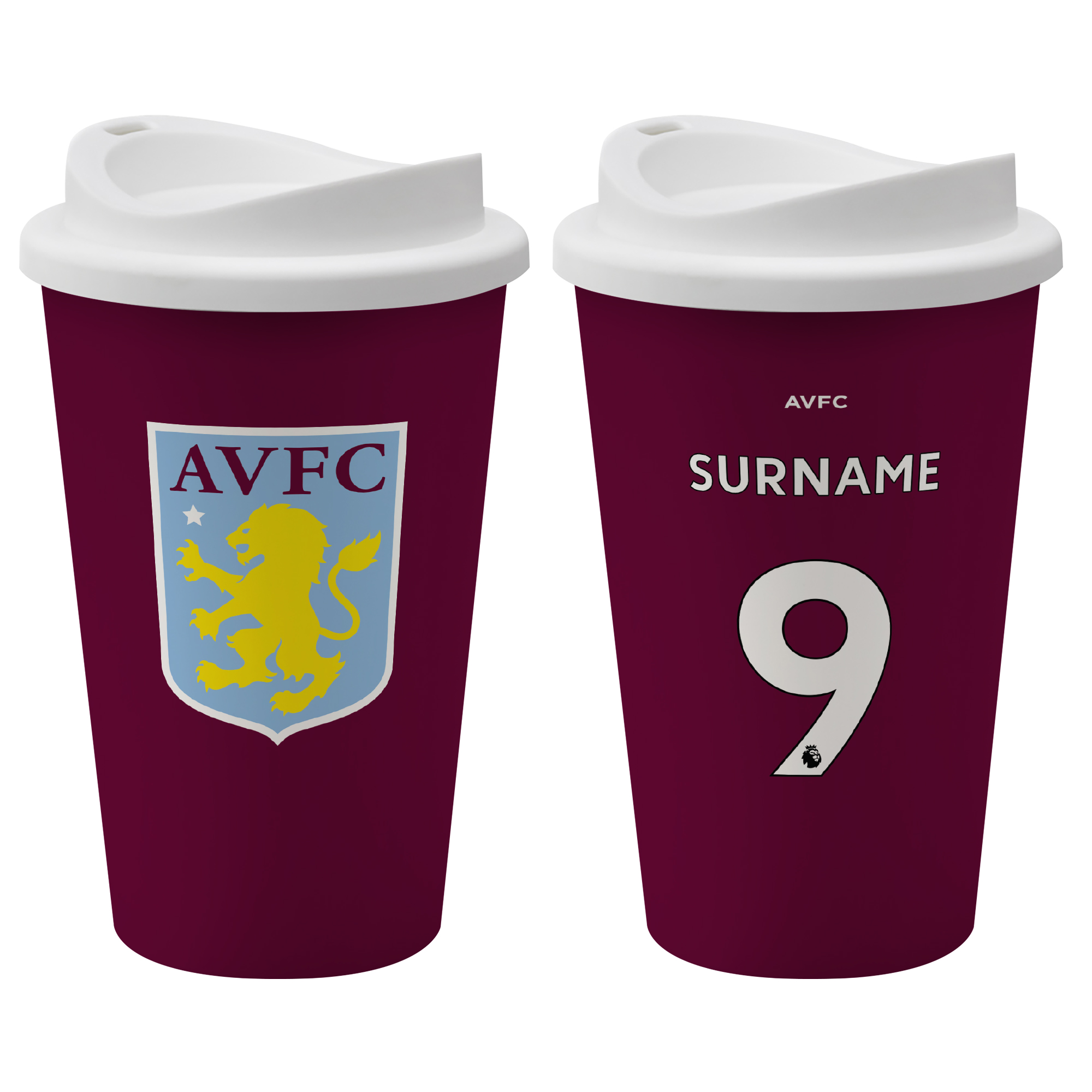 Aston Villa FC Back of Shirt Reusable Cup