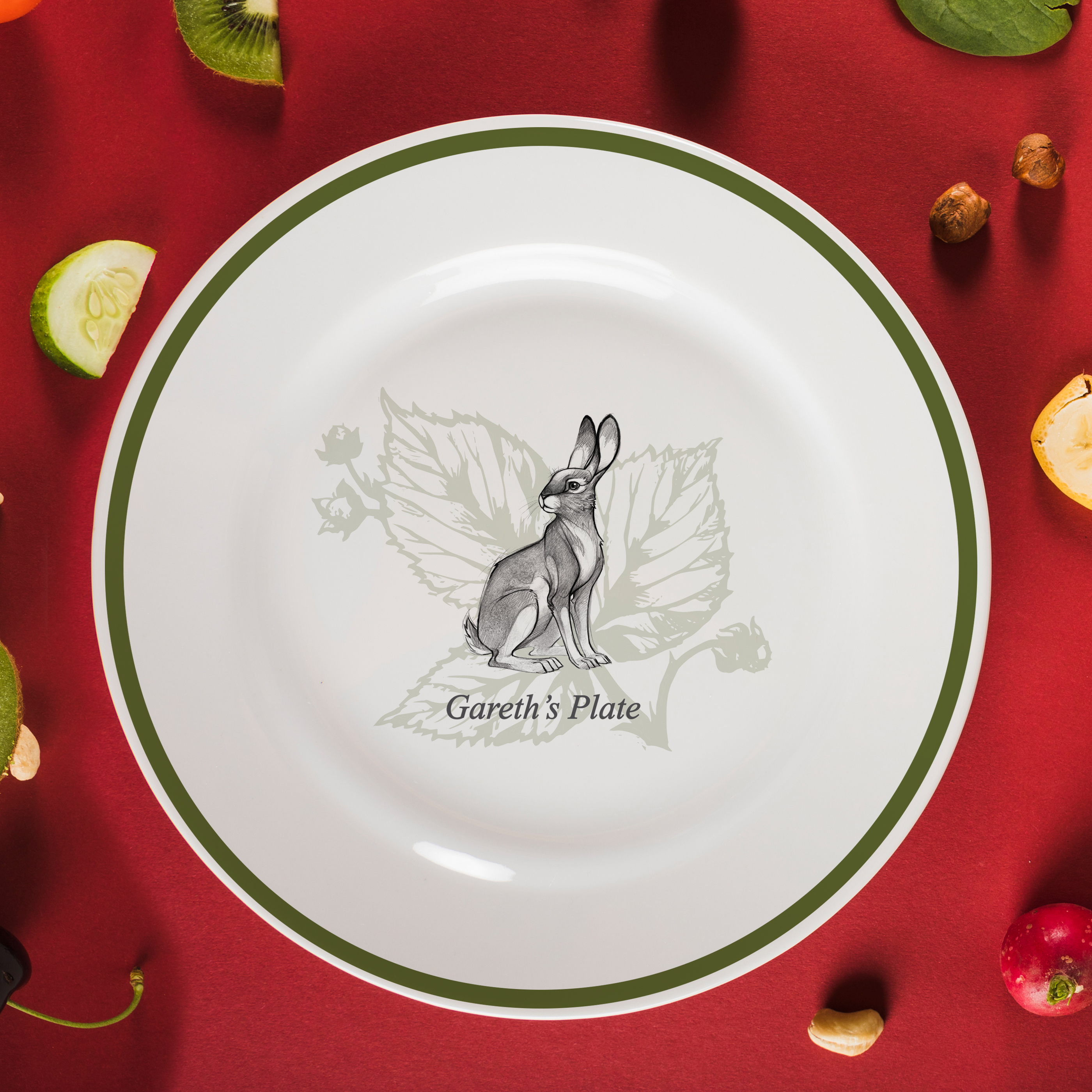 "Watership Down 10"" Rimmed Plate - Hazel"