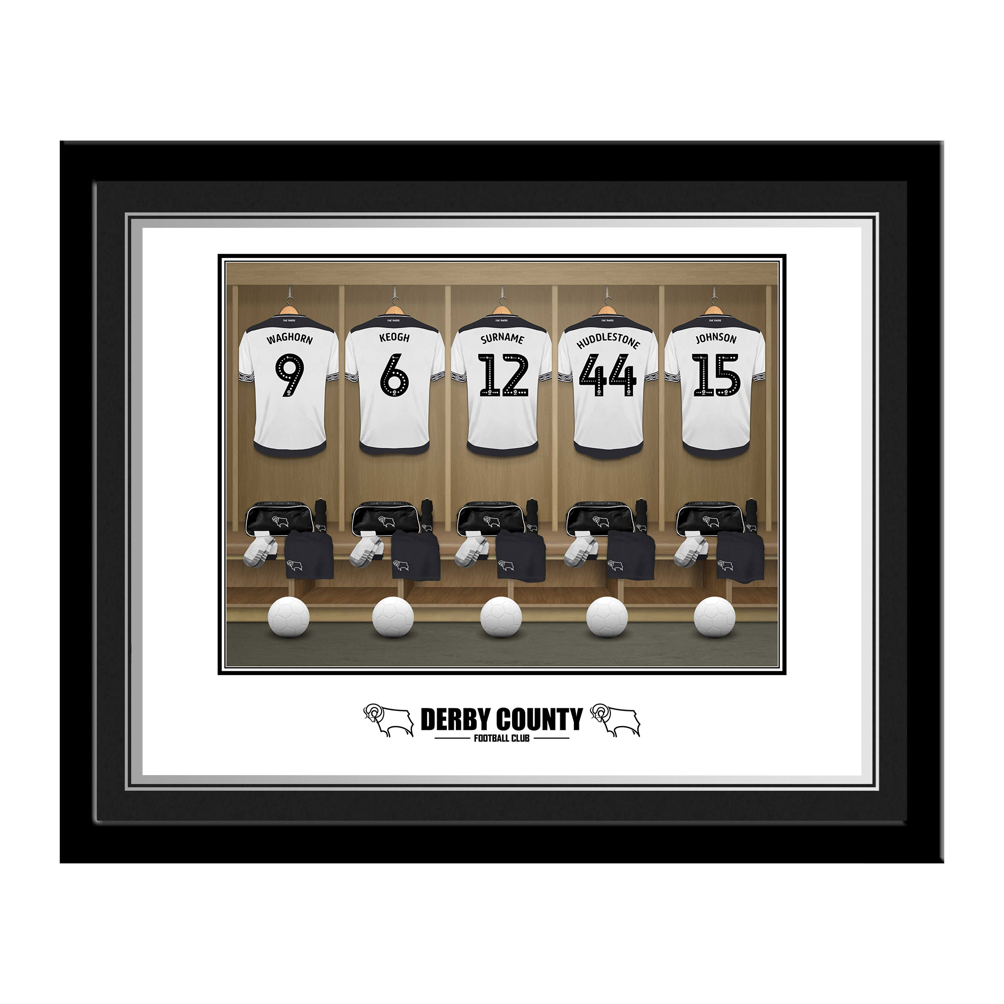 Derby County Dressing Room Photo Framed