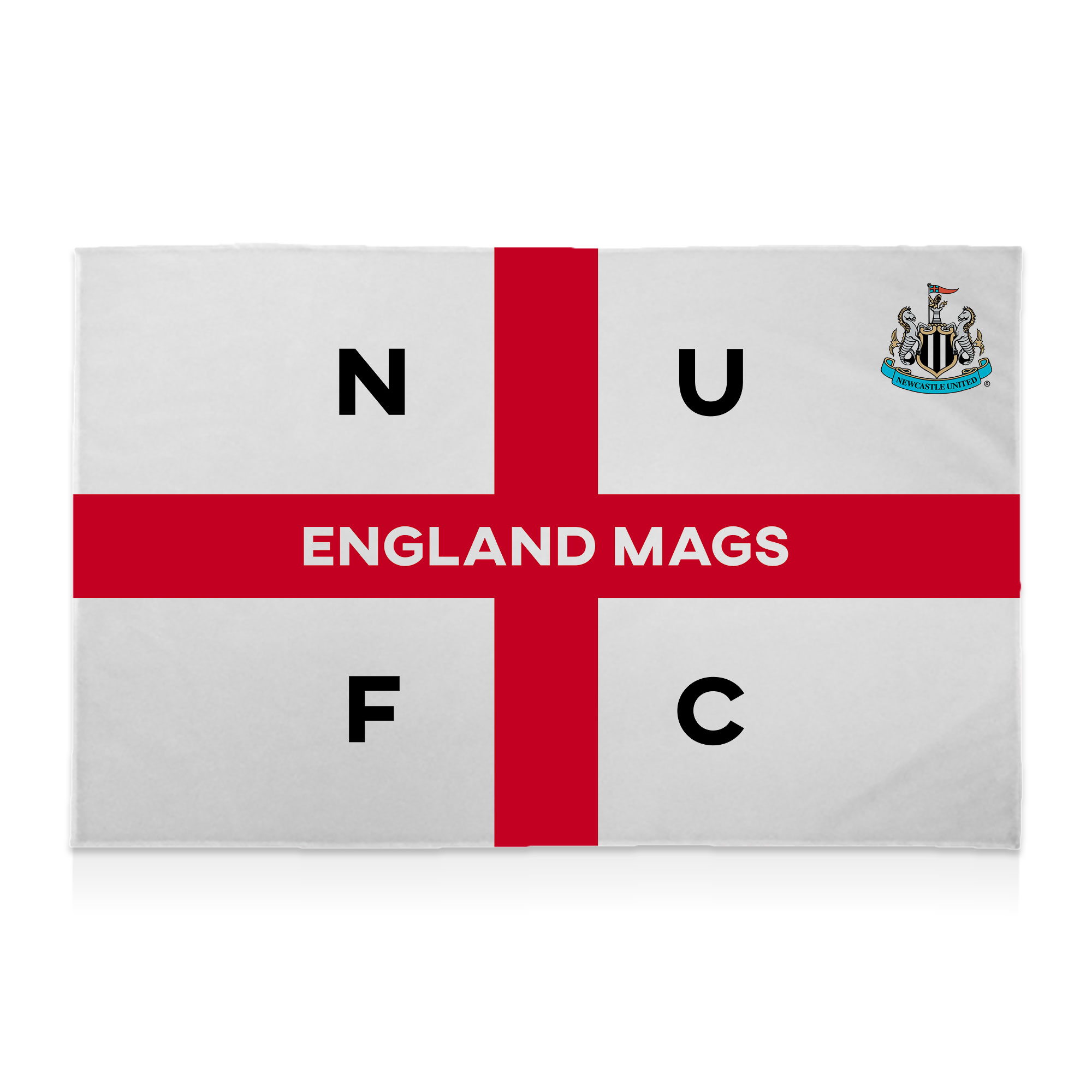 Newcastle United FC England Supporters Club 8ft x 5ft Banner