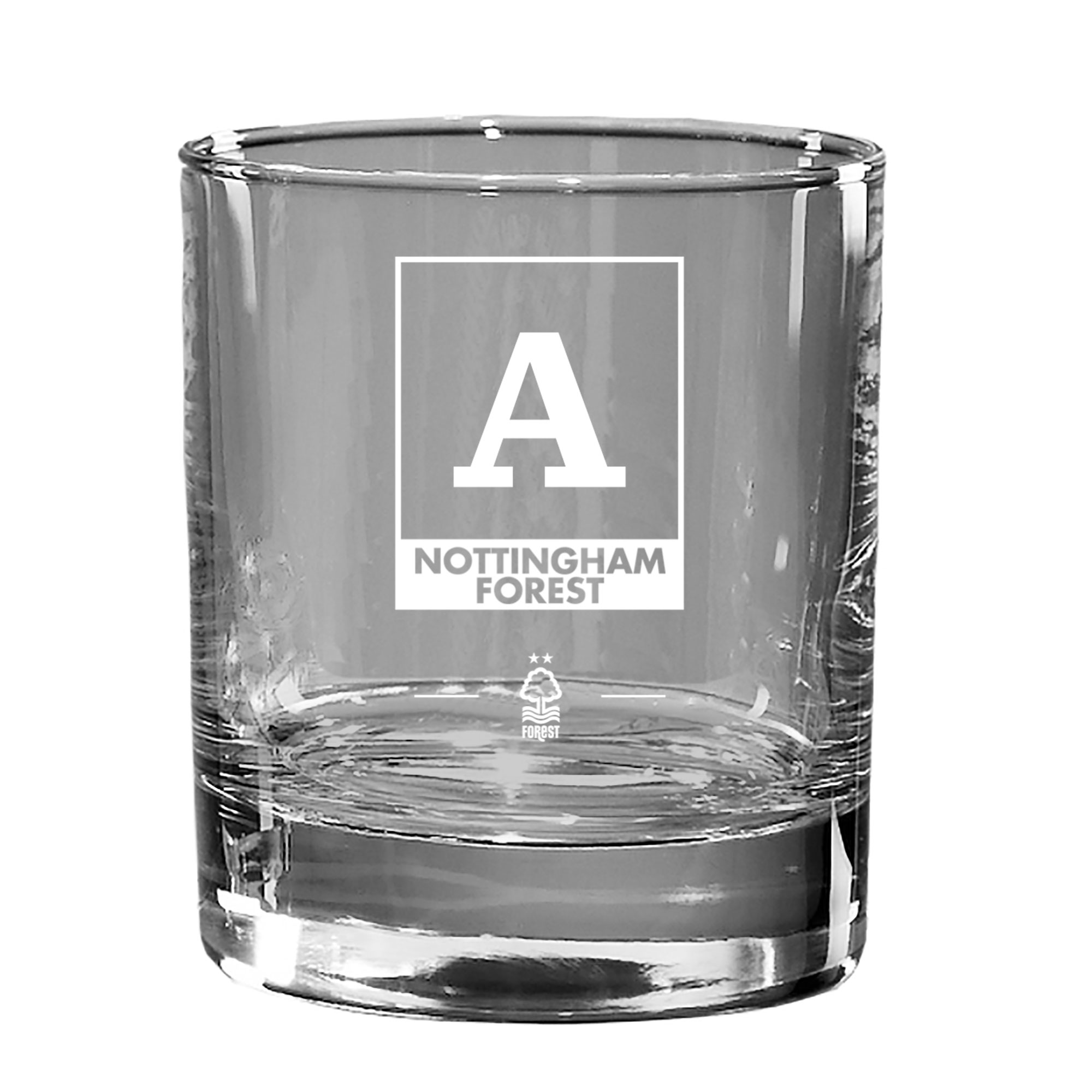 Nottingham Forest FC Monogram Old Fashioned Whisky Tumbler
