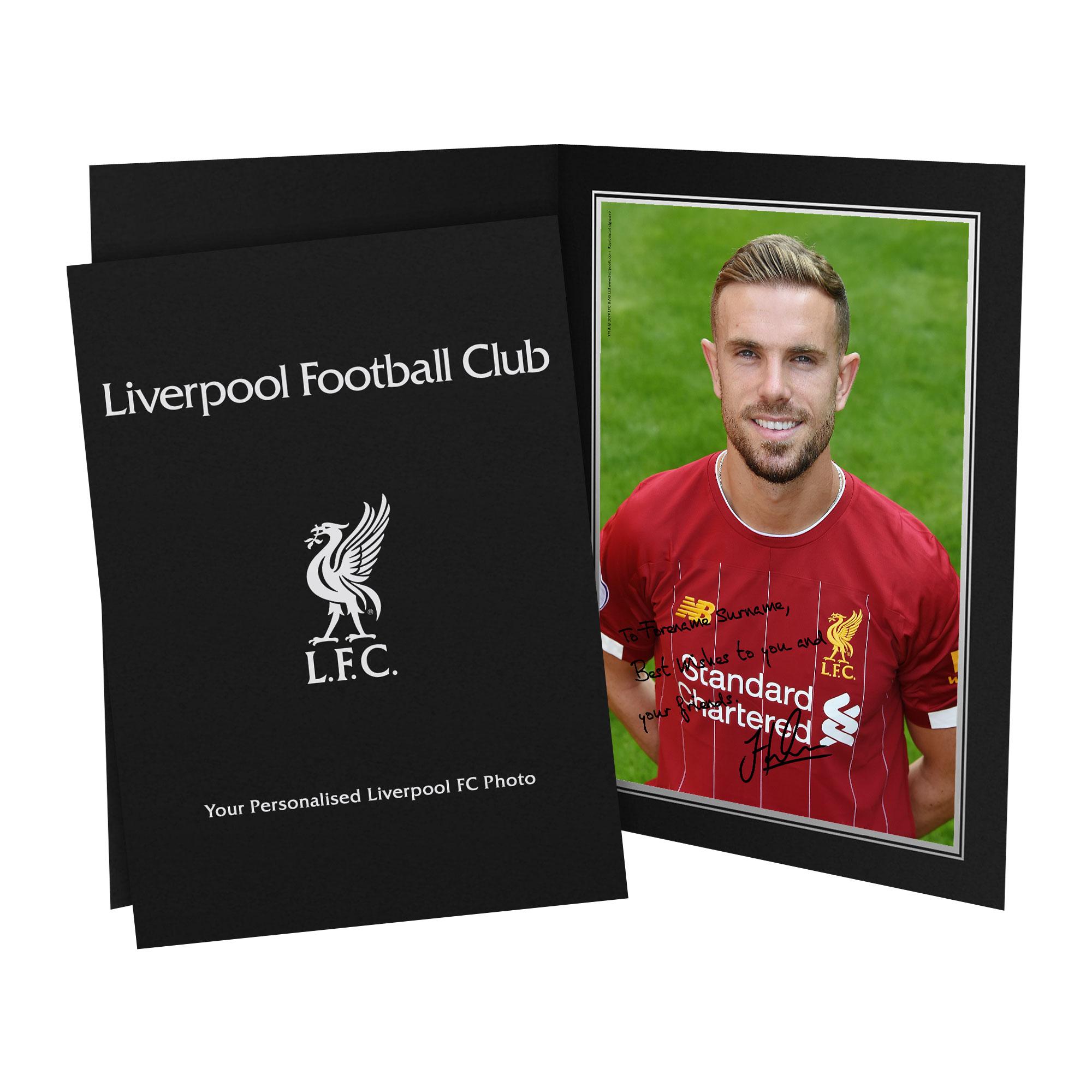 Liverpool FC Henderson Autograph Photo Folder